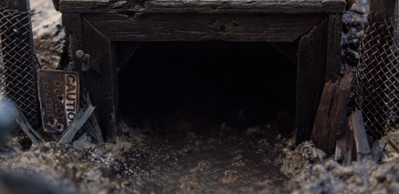 Bunker, Conversion, Diorama, Dirty, Grime, Mine, Mud, Rain, Rusty Robot, Sentinel, Space Marines, Wet