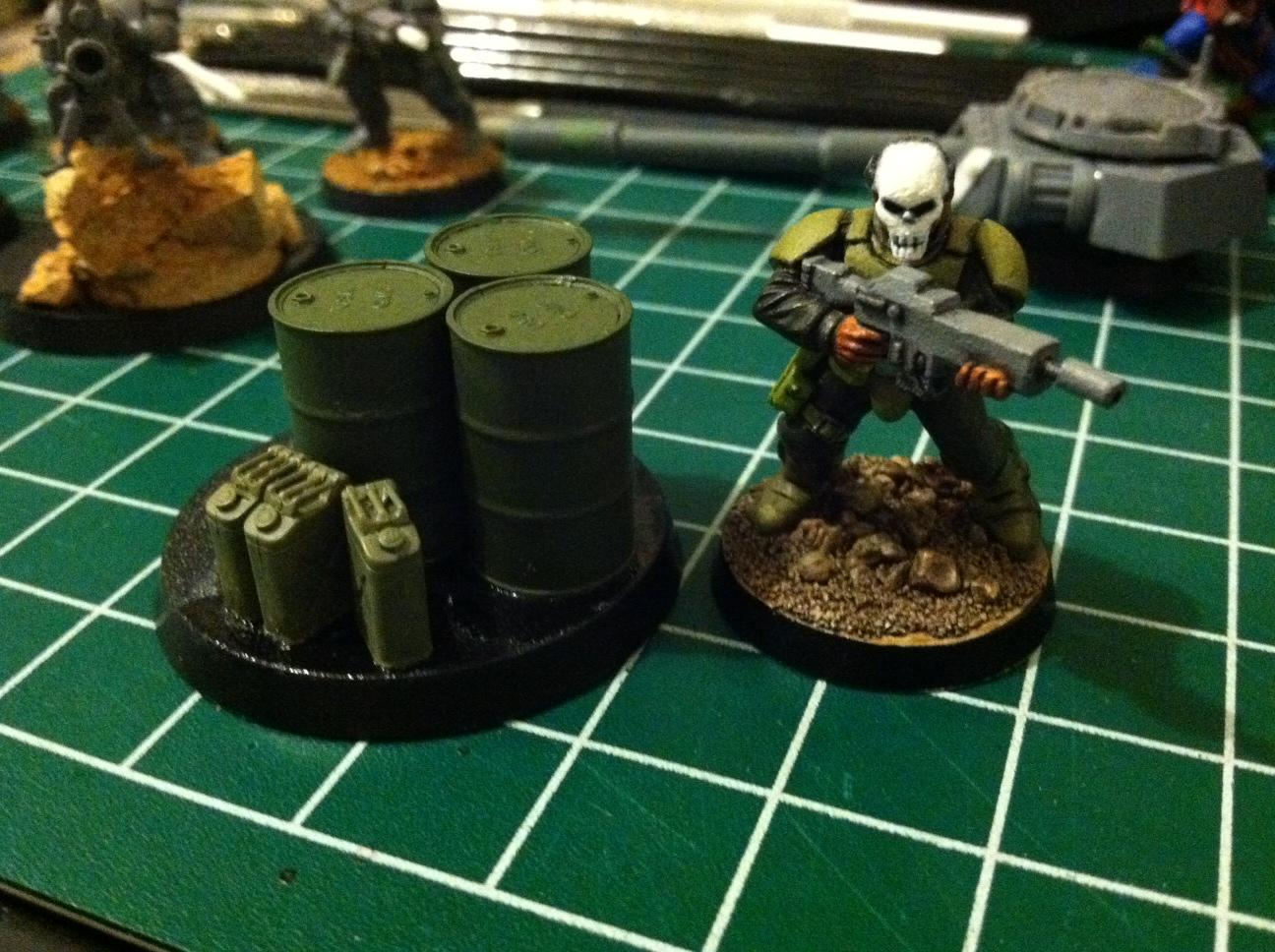Objective marker - size comparison