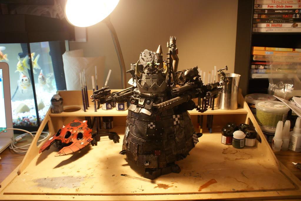 Games Workshop, Ork Boyz, Ork Stompa, Painted, Pro Painted, Stompa, Warhammer 40,000, Warhammer Fantasy