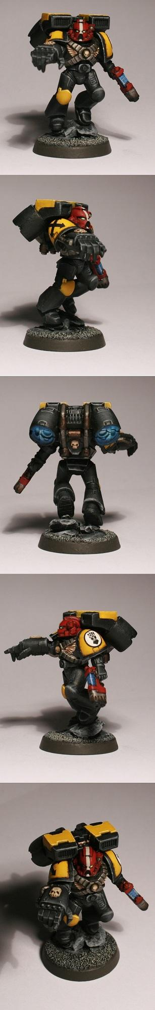 Assault, Assault Marines, Imperial Fists, Sergeant, Space Marines