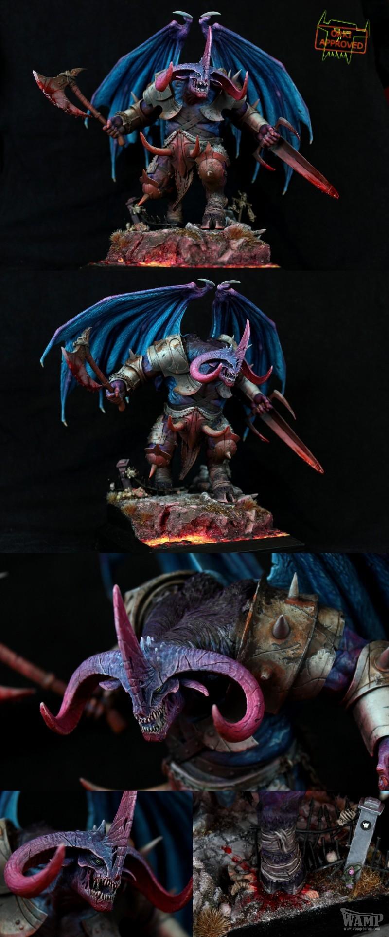 Banebeast, Blood, Chaos, Conversion, Daemon Prince, Daemons, Krull, Non-Metallic Metal, Object Source Lighting, Orki, Splat, Weathered