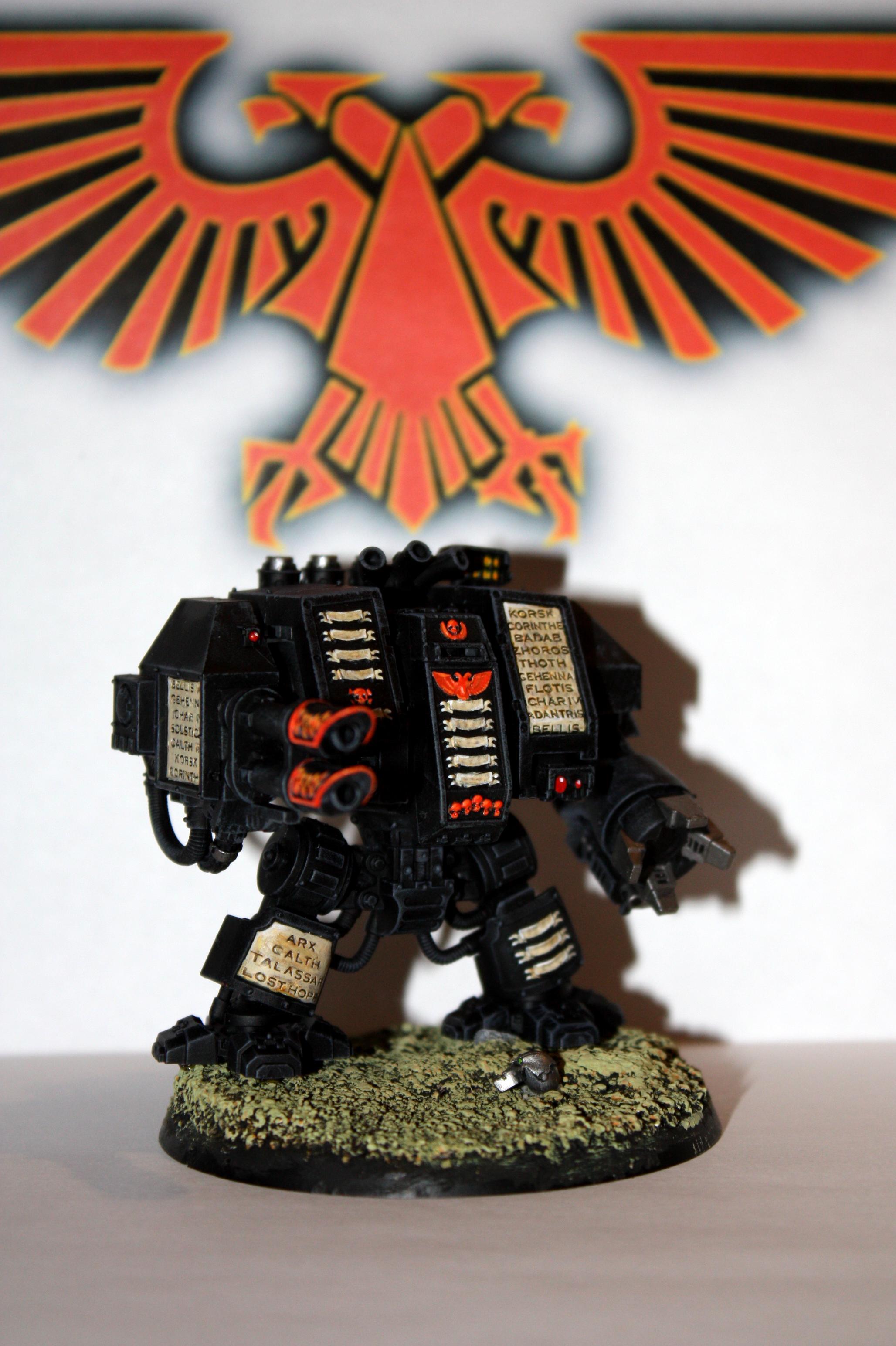 Chapter, Dreadnought, Drybrush, Phoenix, Space Marines, Venerable, Warhammer 40,000, Warhammer Fantasy