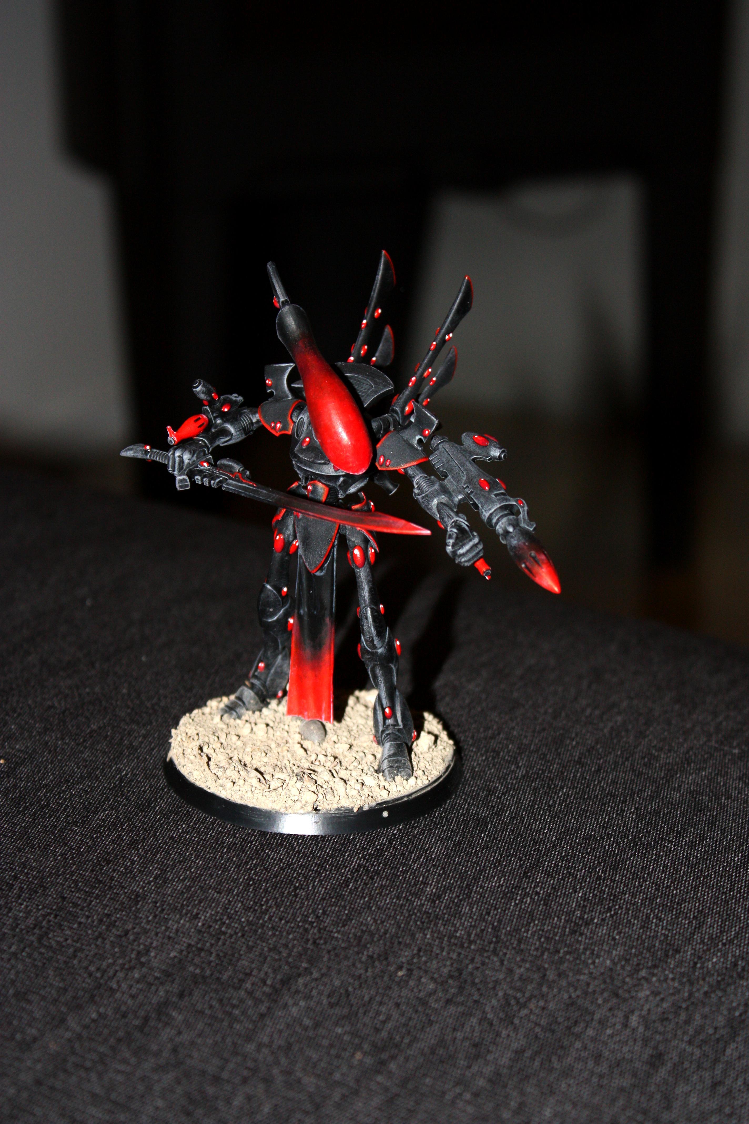 Drybrush, Eldar, Warhammer 40,000, Wraithlord