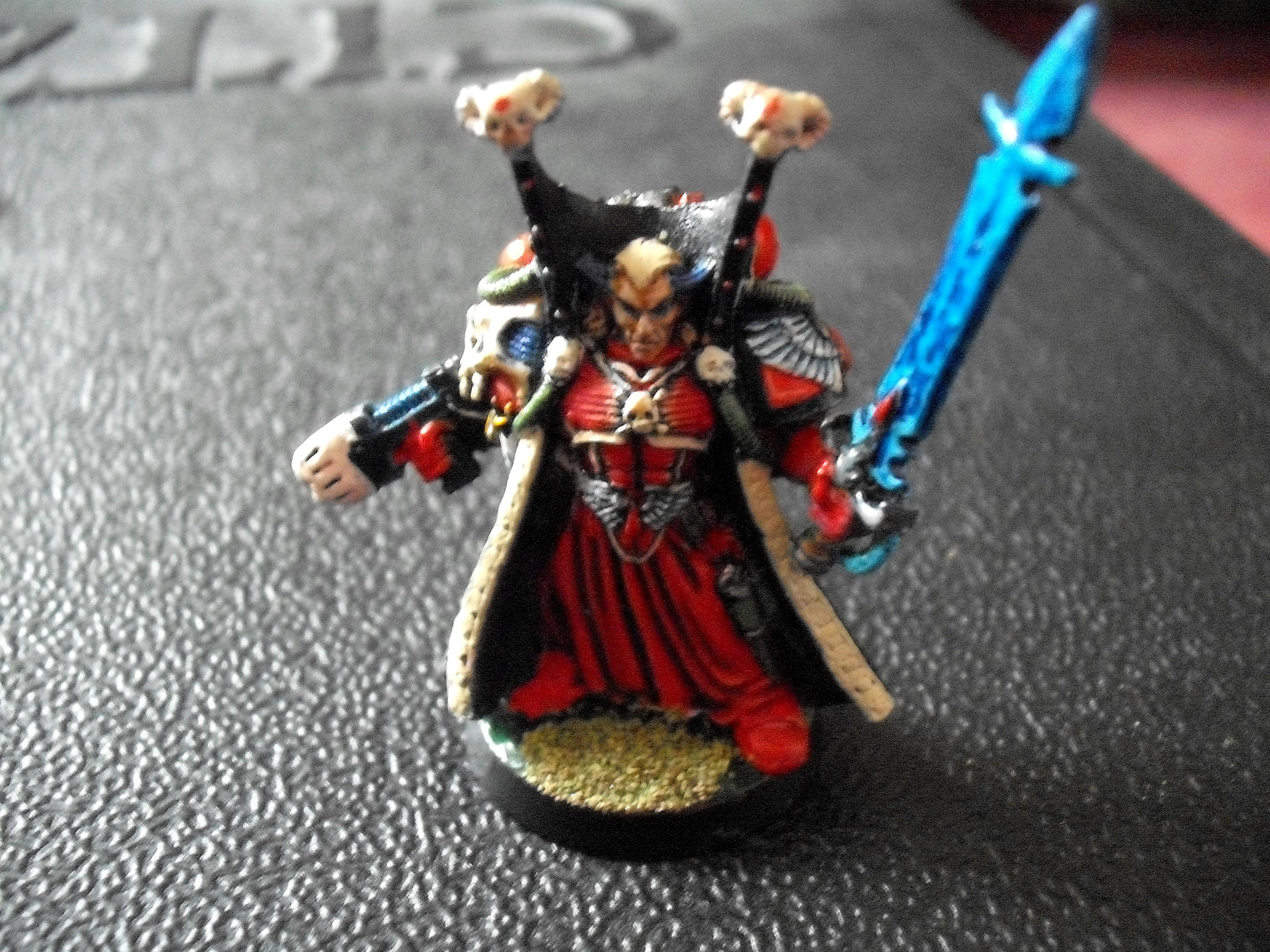 Front View, Librarian, Mephiston, Power Sword, Psychic Hood, Robes