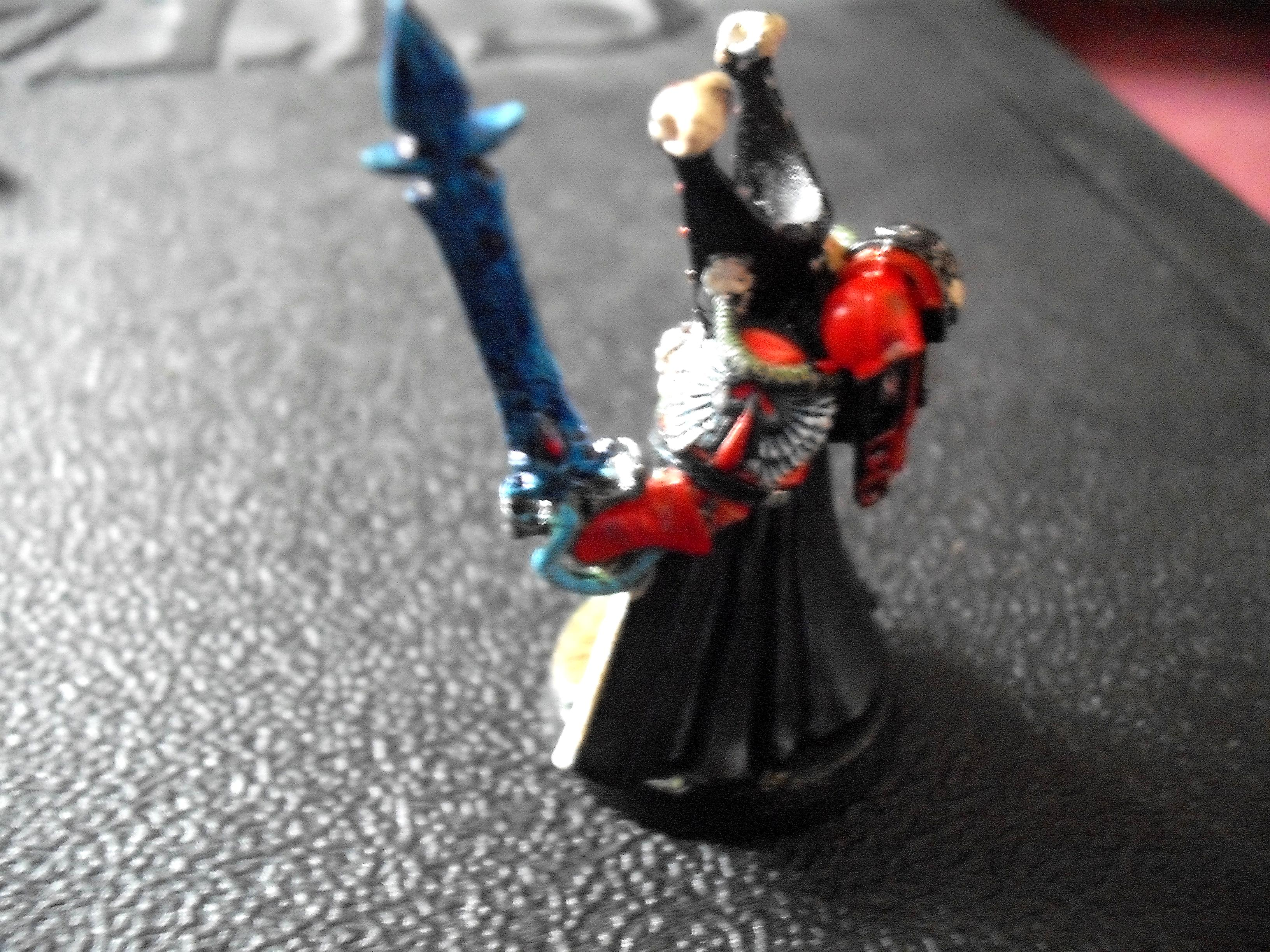 Librarian, Mephiston, Power Sword, Psychic Hood, Robes, Side View