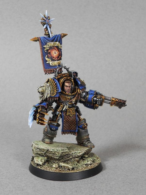 Astral Claw, Badab, Banner, Chaos, Chapter Master, Character, Excellent, Forge World, Huron, Metallic, Space Marines, Warhammer 40,000