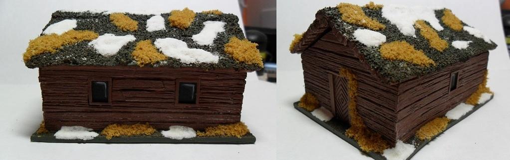 Cabin, Snow, Terrain