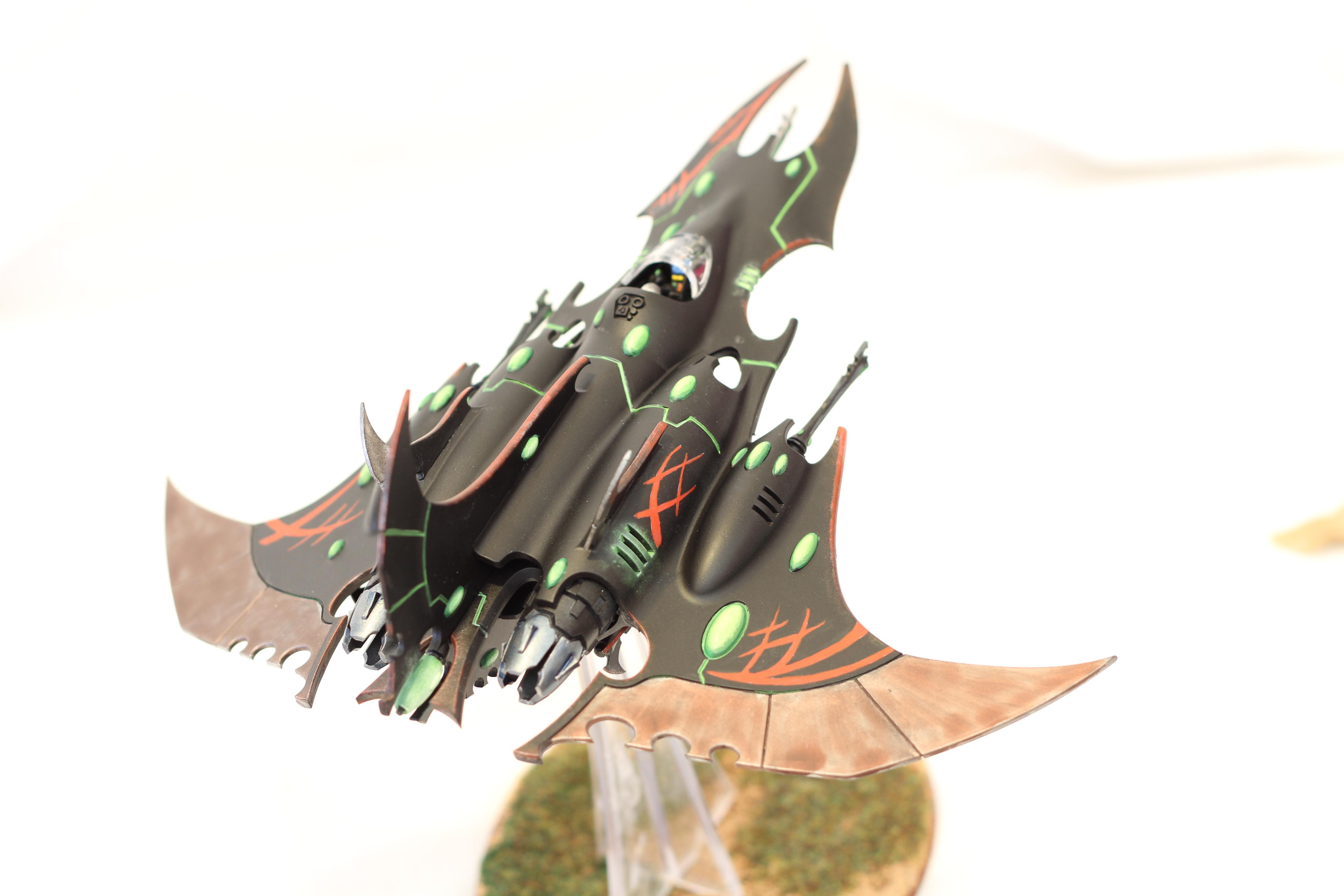 Black, Dark Eldar, De, Eldar, Heavy Support, Lance, One Shot, Razorwing, Razorwing Jetfighter, Red, Supersonic. Super Sonic