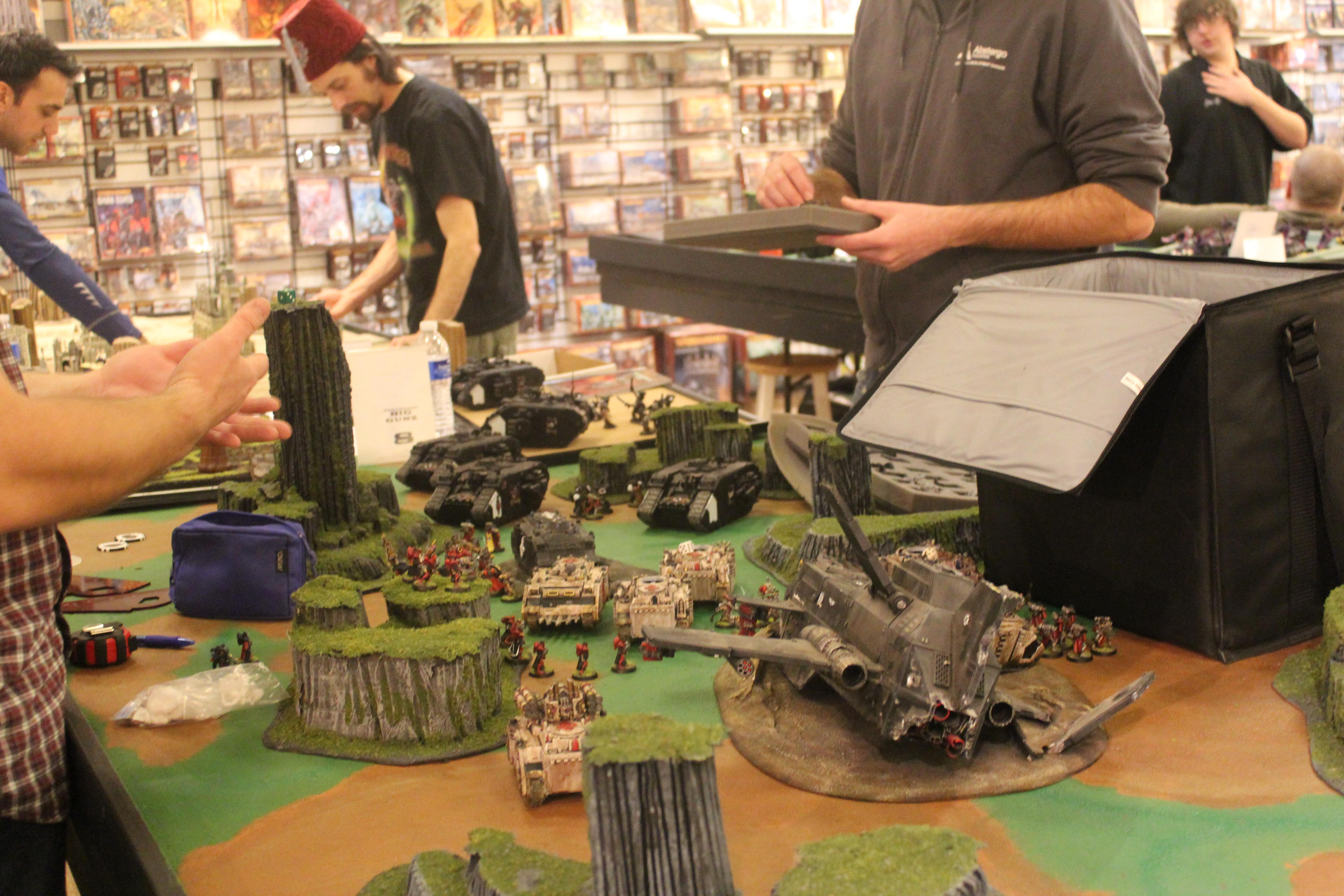 Game, Game Table, Terrain, Thunderhawk, Warhammer 40,000