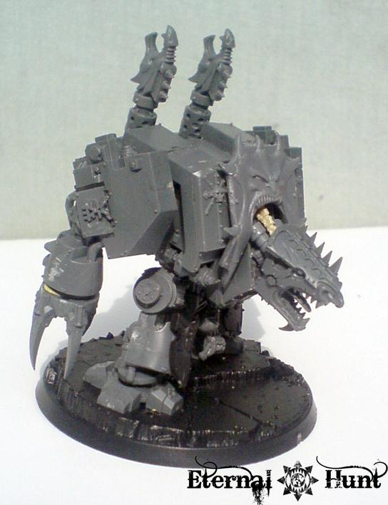 Chaos, Chaos Space Marines, Conversion, Dreadnought, Khorne, Warhammer 40,000, Work In Progress, World Eaters