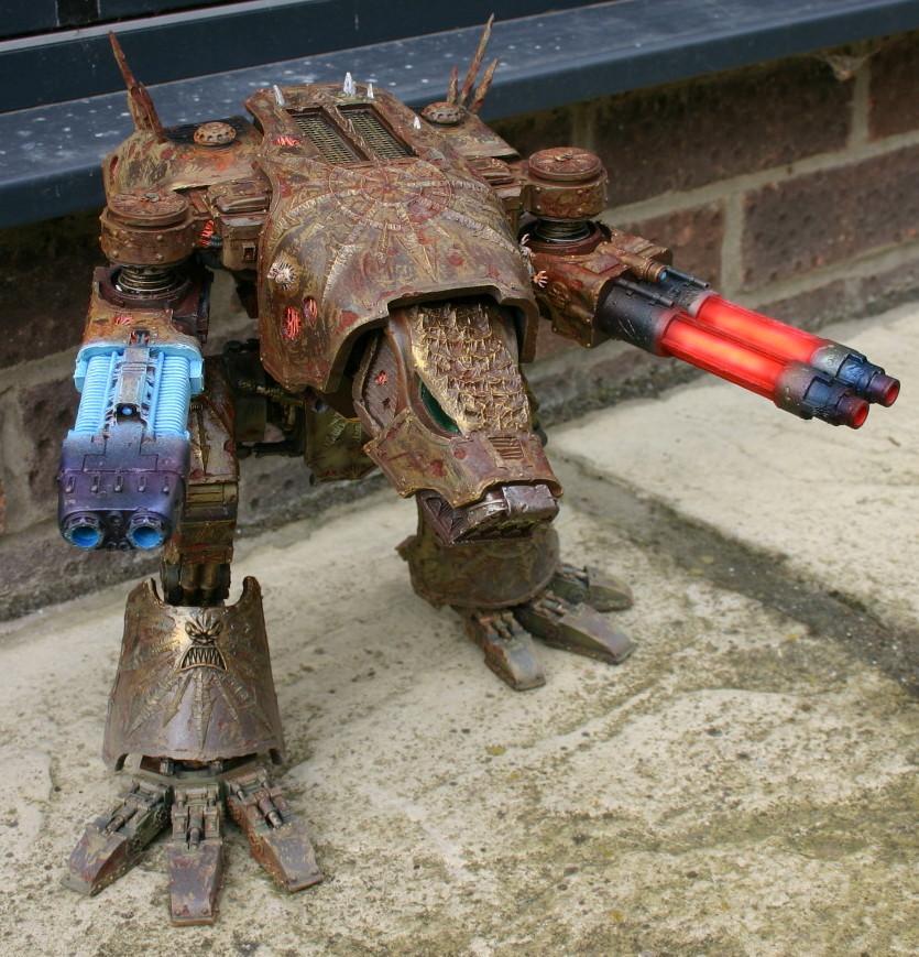 Chaos Titan, Chaos Warhound, Khorne, Plasma Cannon, Turbo Laser