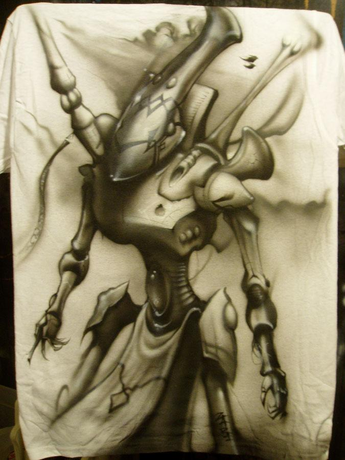 Artwork, Black And White, Eldar, T-shirt, Wraithlord