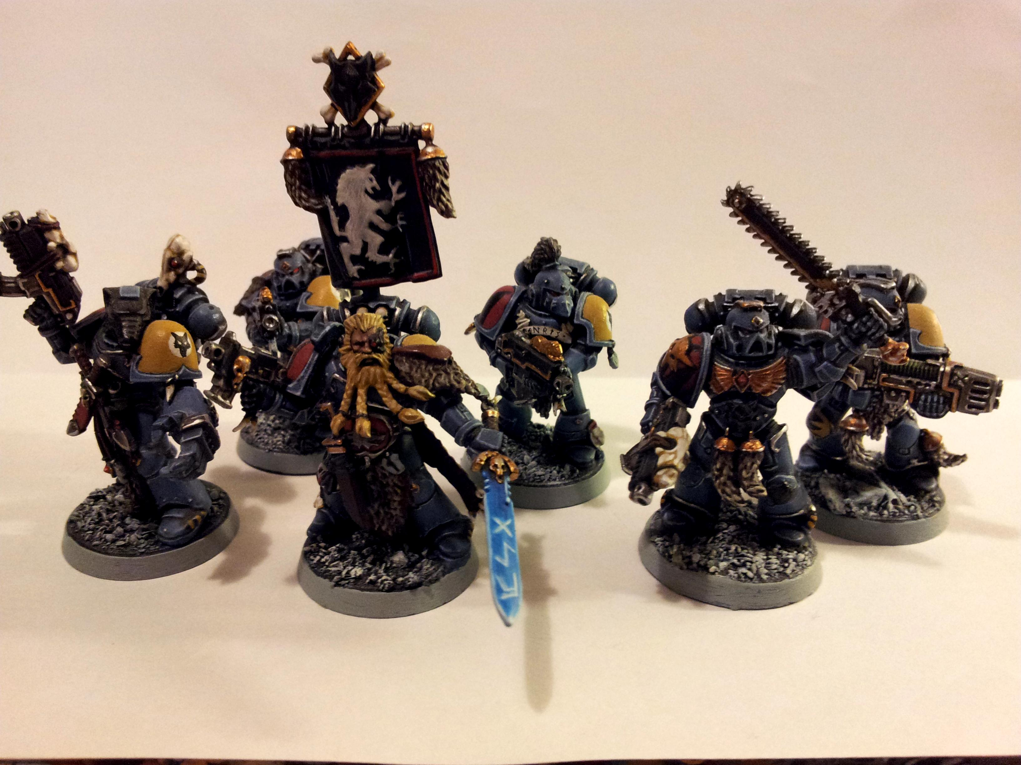 Grey Hunters, Space Marines, Space Wolves, Squad, Warhammer 40,000