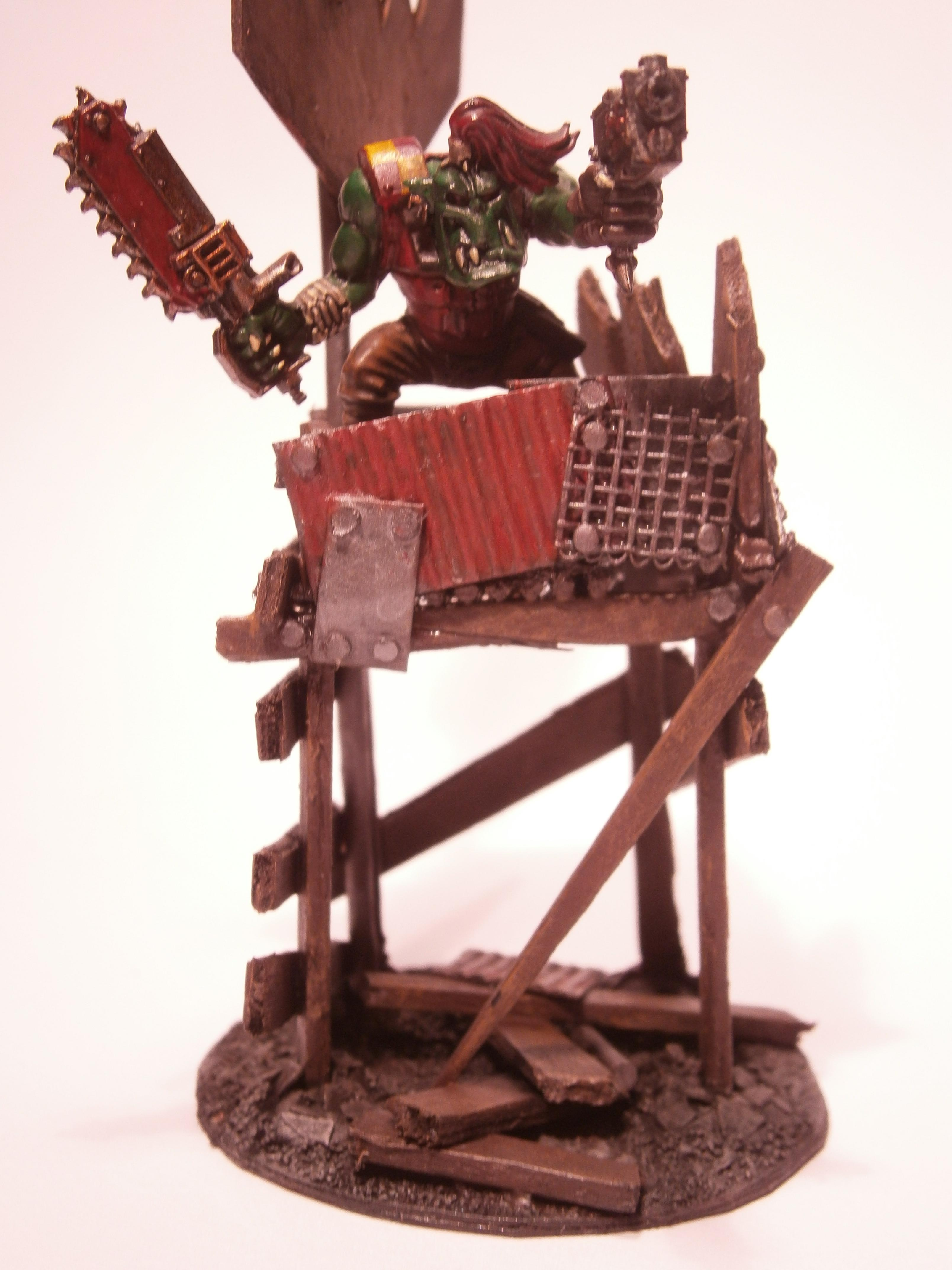 Banner, Buildings, Orks, Orky, Scratch Build, Terrain, Waaaagh, Warhammer 40,000, Watch Tower, Wooden