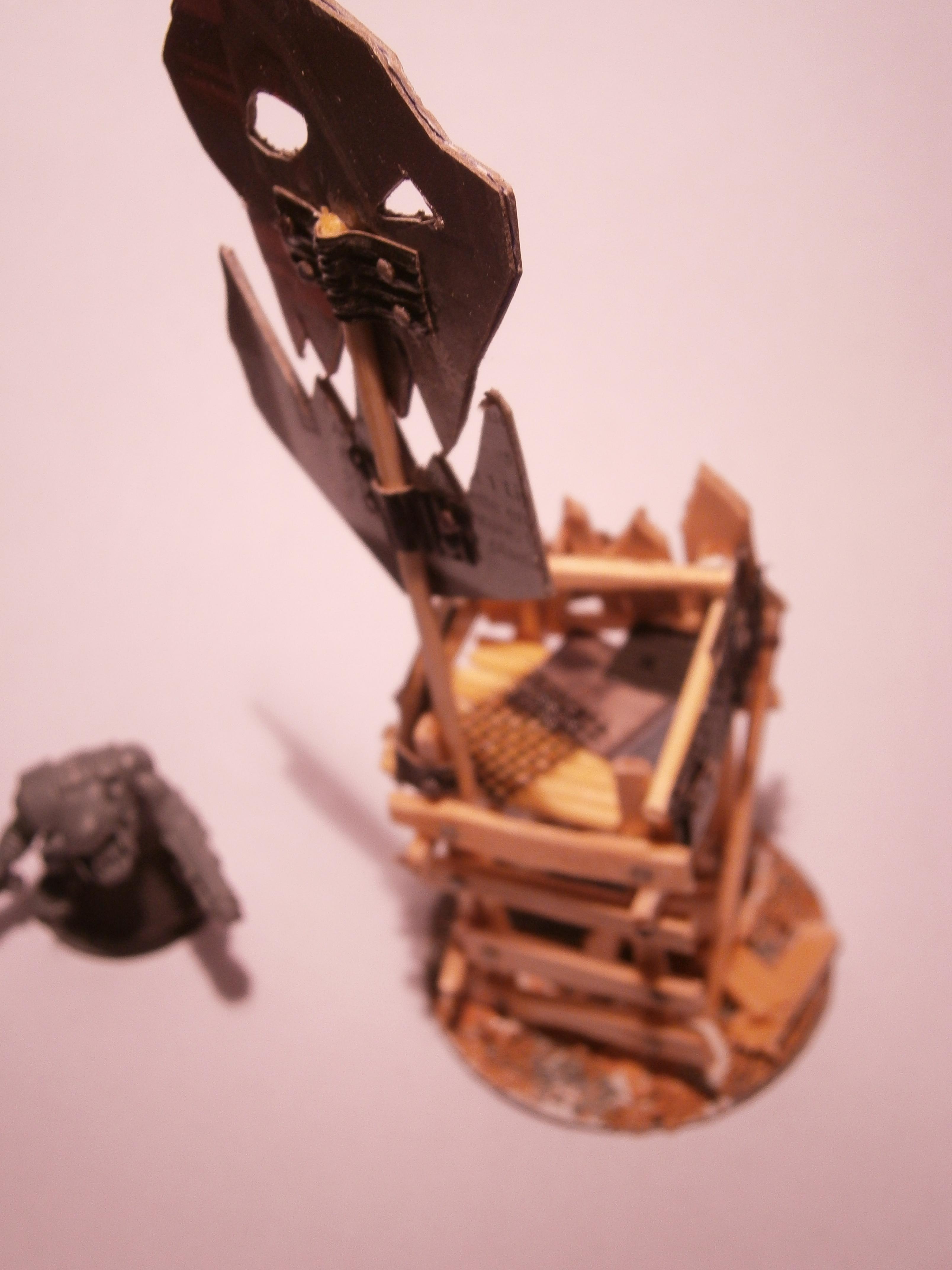 Banner, Buildings, Orks, Orky, Scratch Build, Terrain, Waaaagh, Warhammer 40,000, Watch Tower, Wooden, Work In Progress