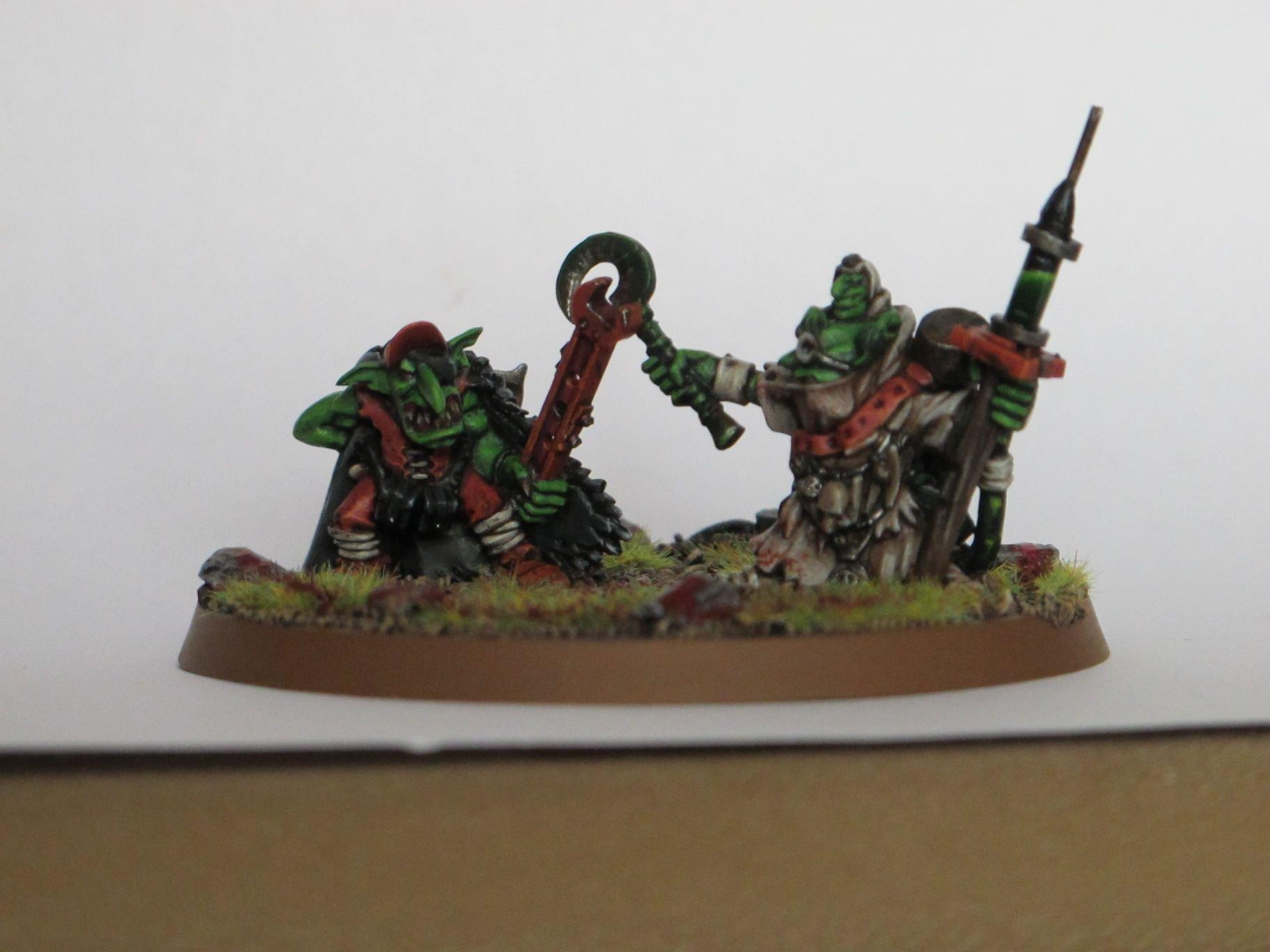 Dakka Painting Challenge, Duel, Grots, Orks, Warhammer 40,000, Welcome To Thunderdome, Work In Progress