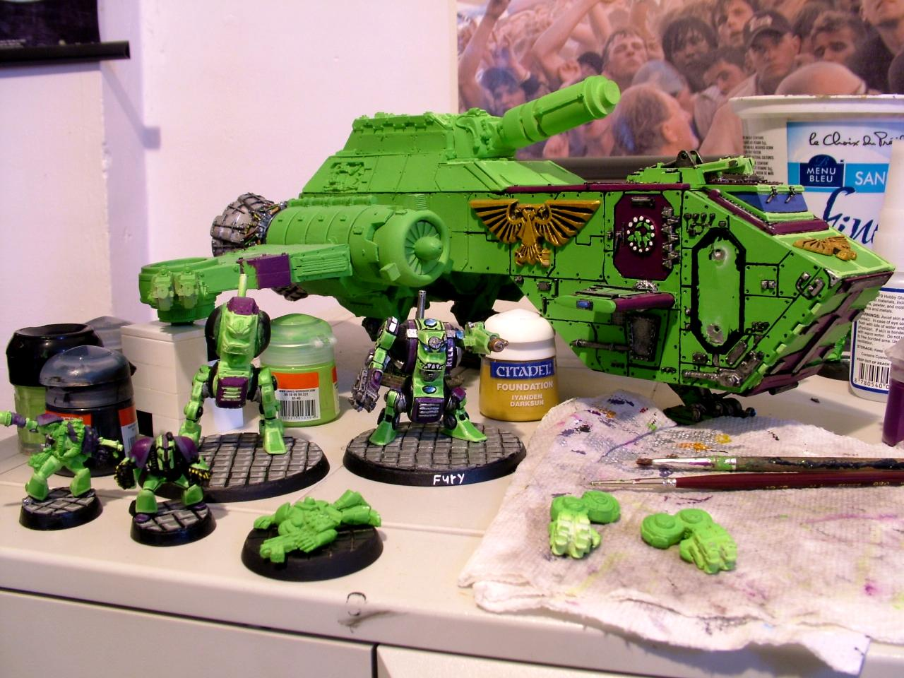 Dreadnought, Rogue Trader, Space Marines, Thunder Hawk