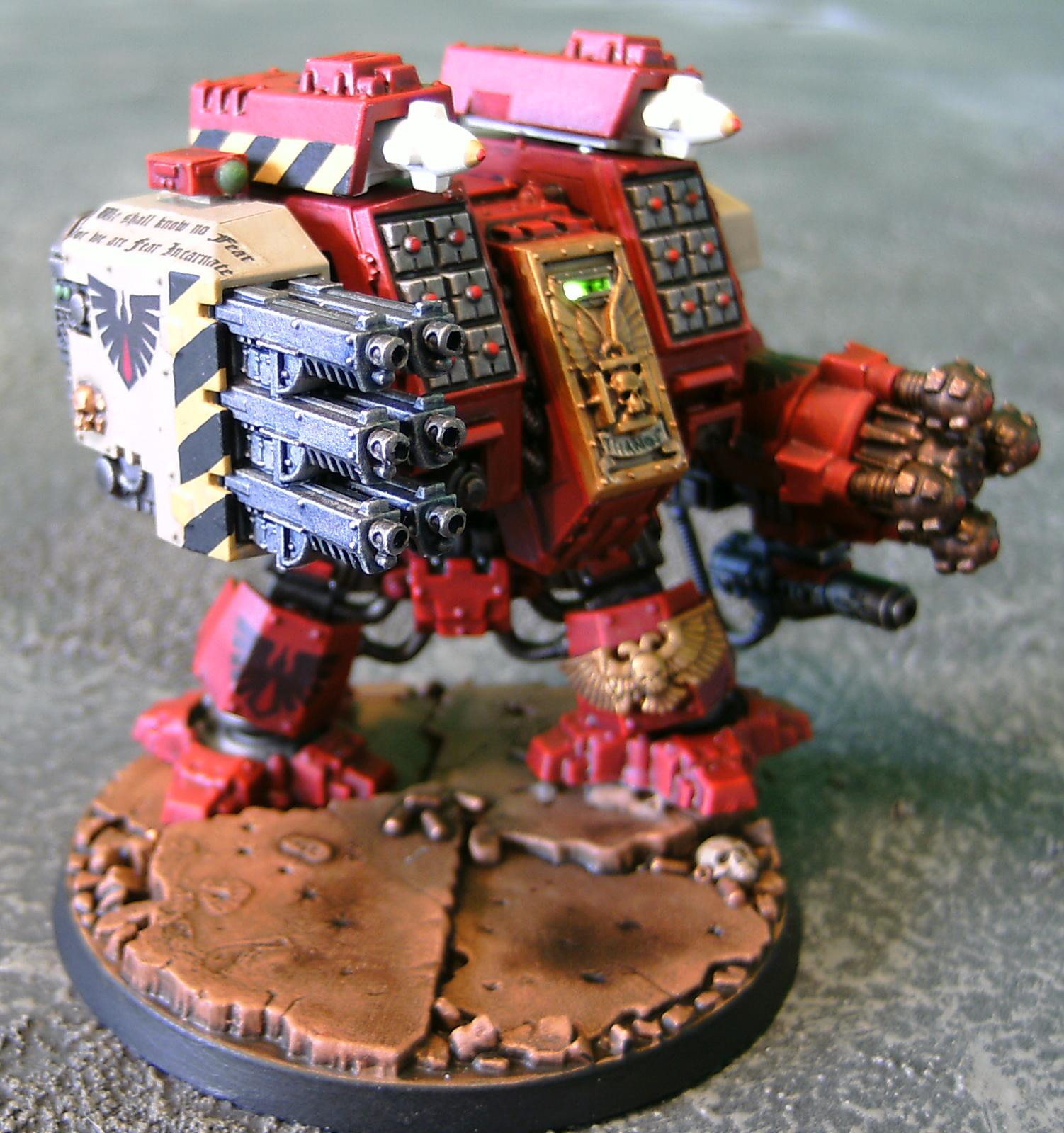 Blood Ravens, Dreadnought, Ironclad, LED, Lights, Ouze, Rifleman, Space Marines, Warhammer 40,000