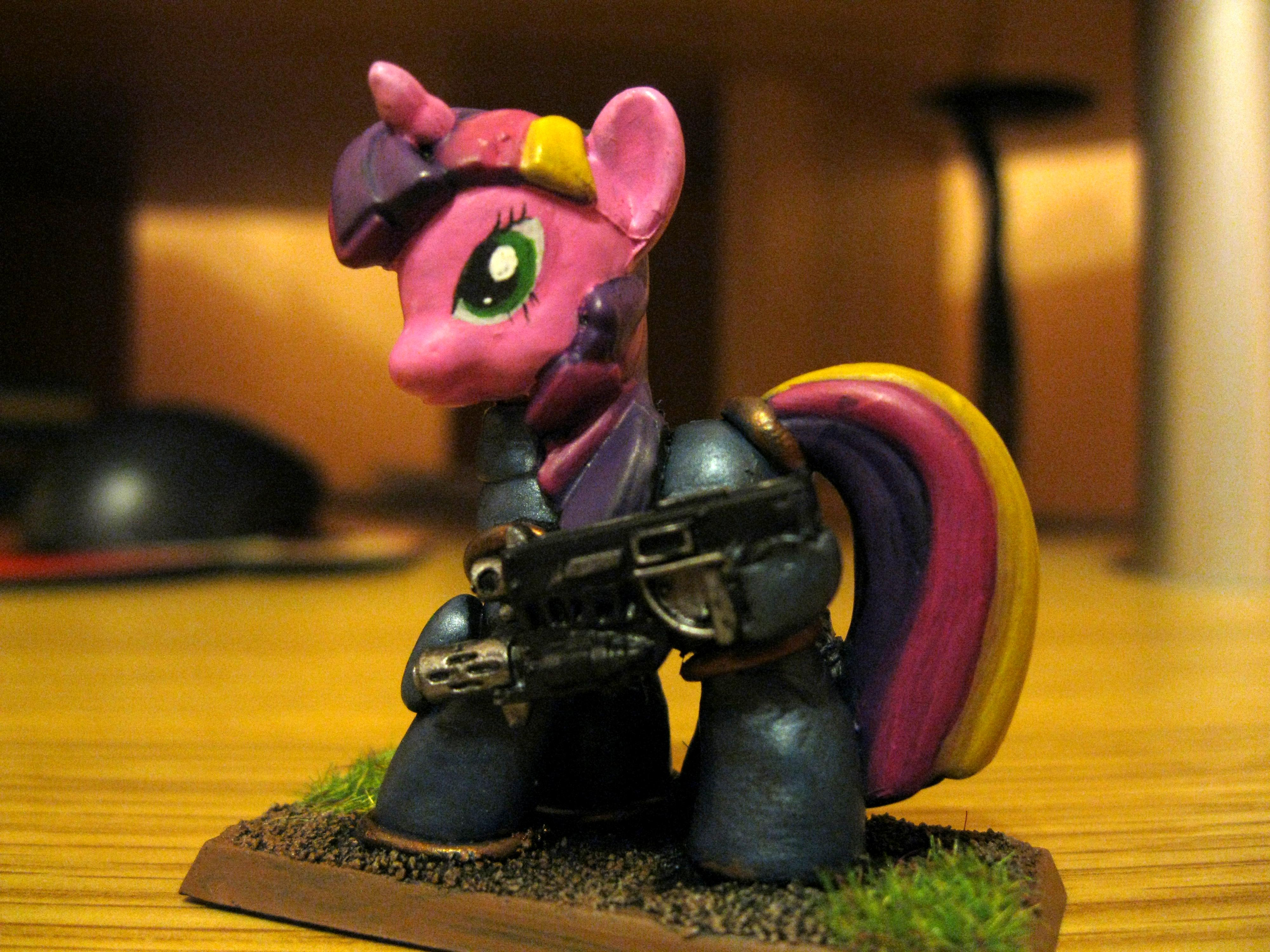 Combibolter, Cute, Humor, My Little Pony, Space Marines, Stupid