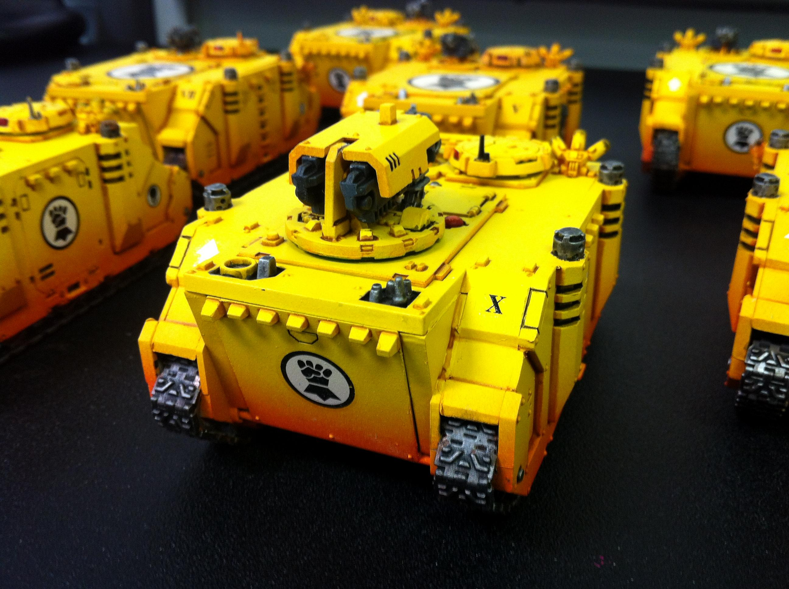 Imperial Fists, Rhino, Space Marines, Warhammer 40,000