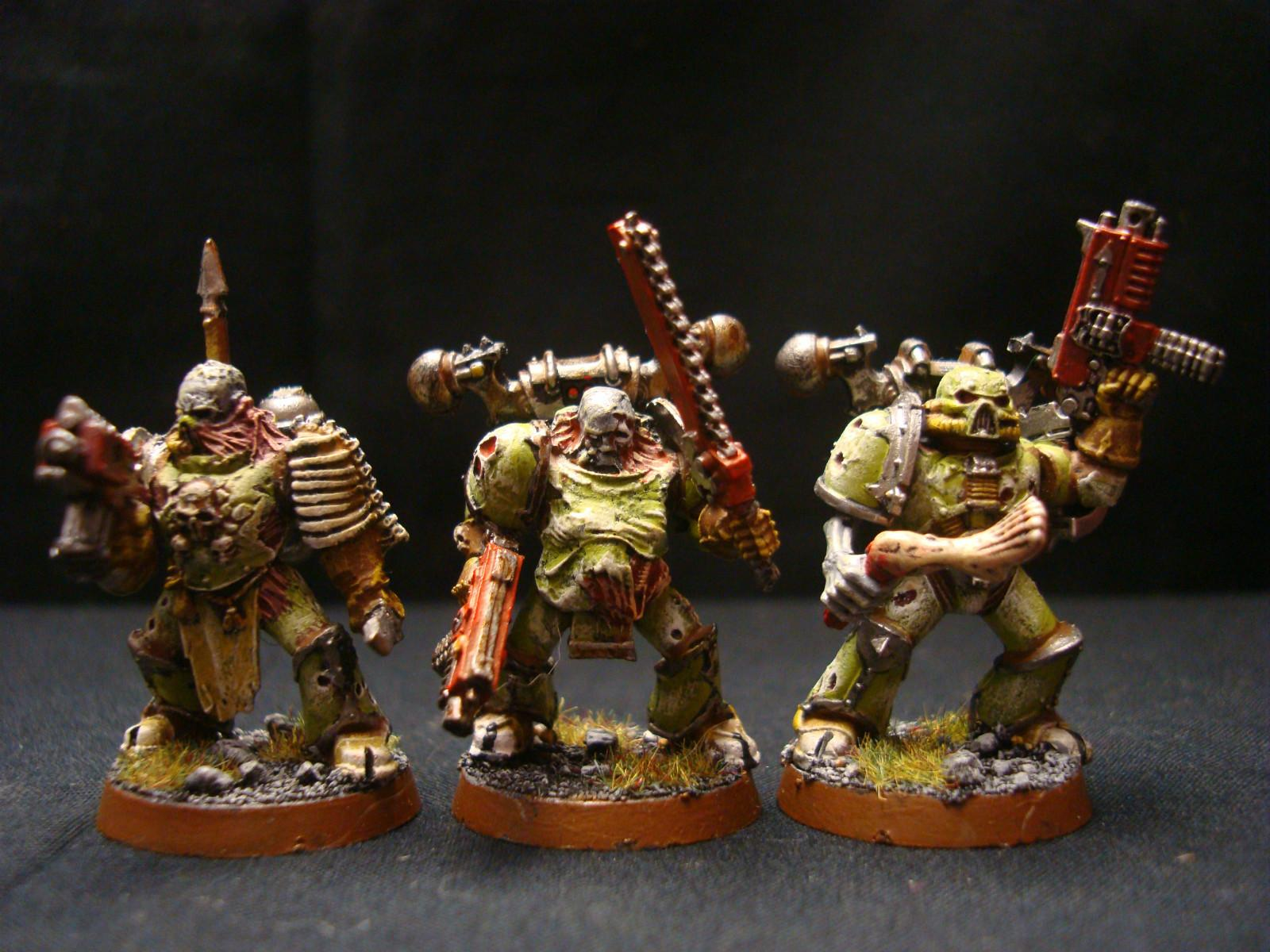 Chaos, Nurgle, Plague Marines, Space Marines