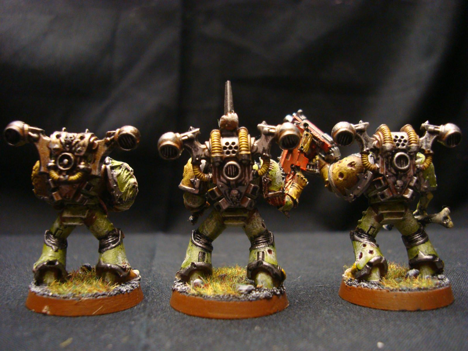 Chaos Space Marines, Nurgle, Plague Marines, Power Armour, Warhammer 40,000