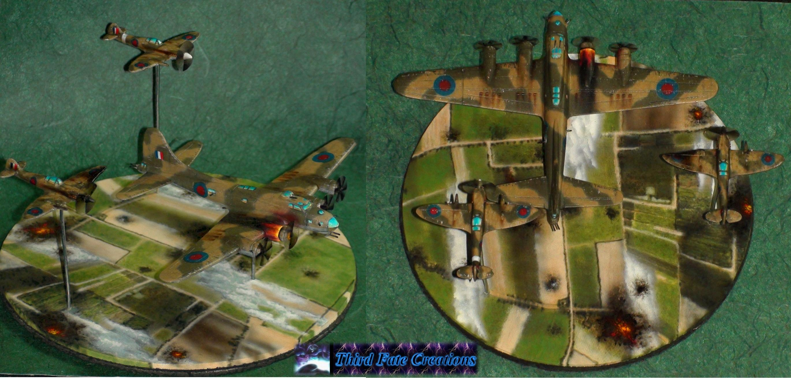 Bomber, Diorama, Planes, World War 2