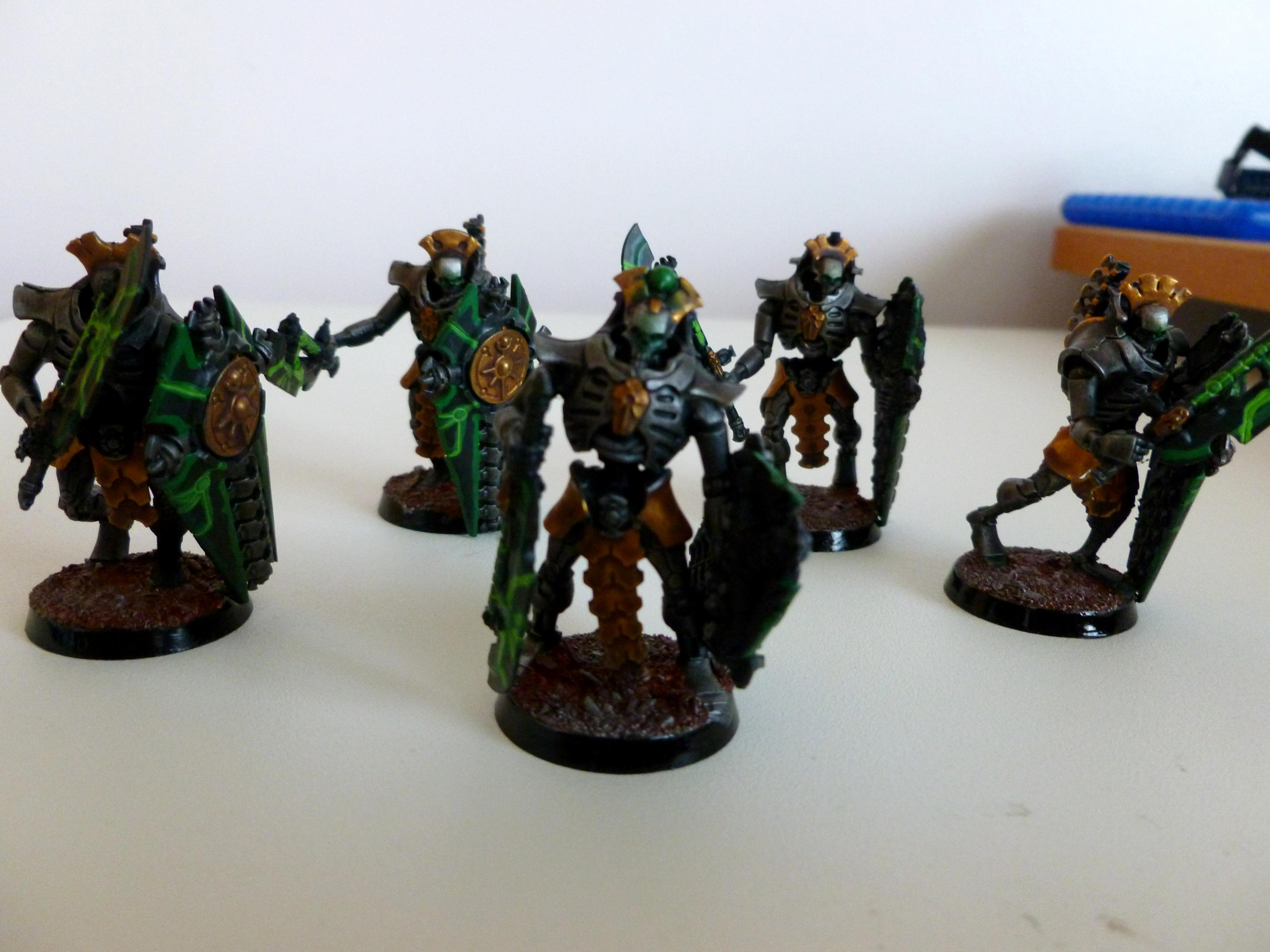 Base, Black, Cool, Disspersion Shild, Evil, Gauss, Gold, Green, Hyperphase Woerds, Lychgaurd, Metal, Necrons, Red, Shilds