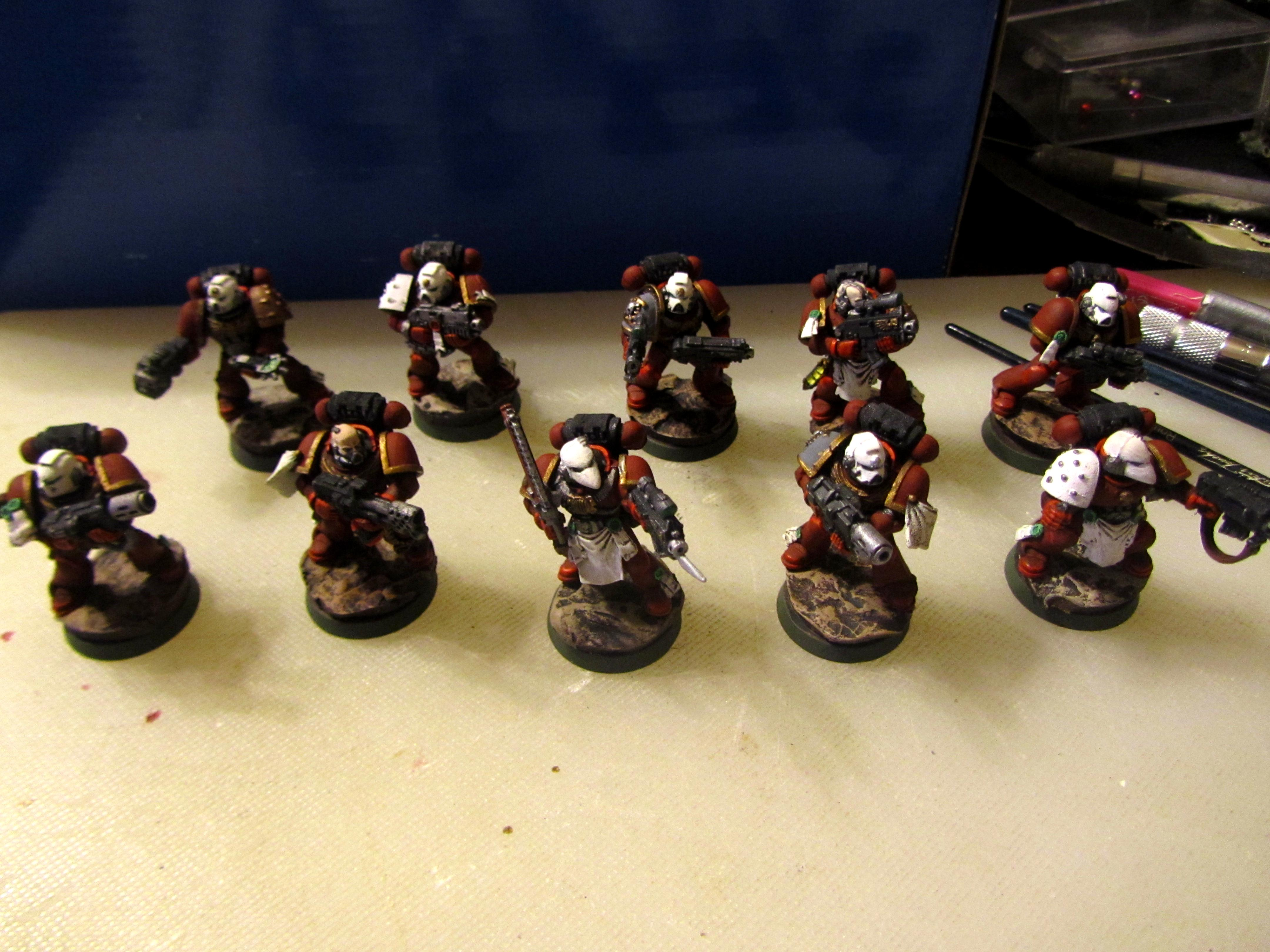 Inquisition, Red Hunters, Space Marines, Tactical Squad