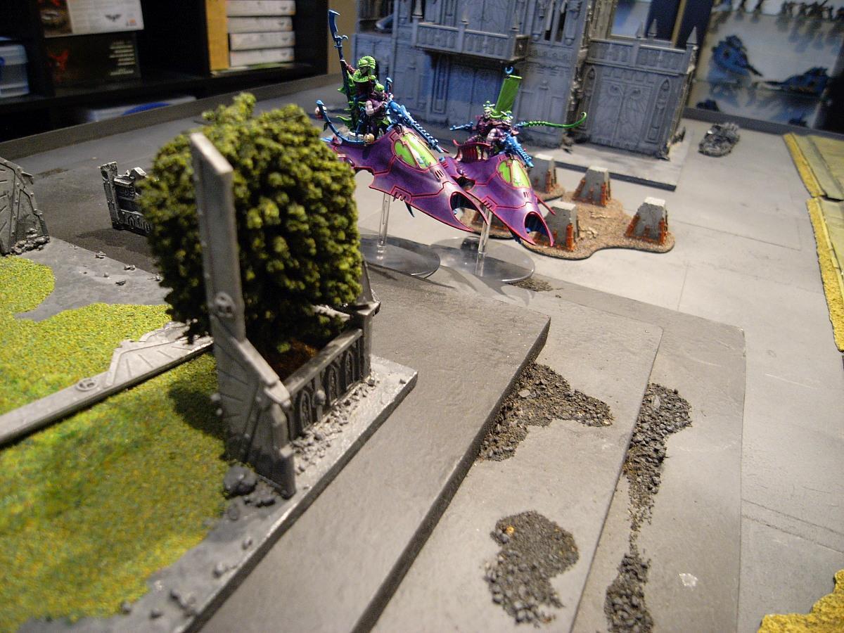 Battle Report, Dark Eldar, Eldar, Green, Panic, Purple, Warhammer 40,000