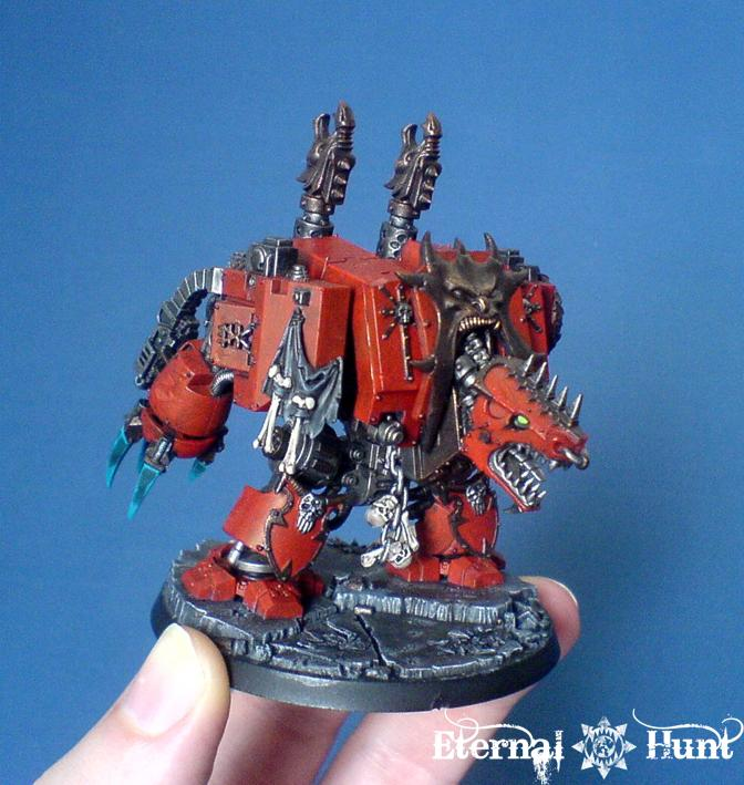 Chaos, Chaos Space Marines, Conversion, Dreadnought, Khorne, Marax The Fallen, Warhammer 40,000, World Eaters