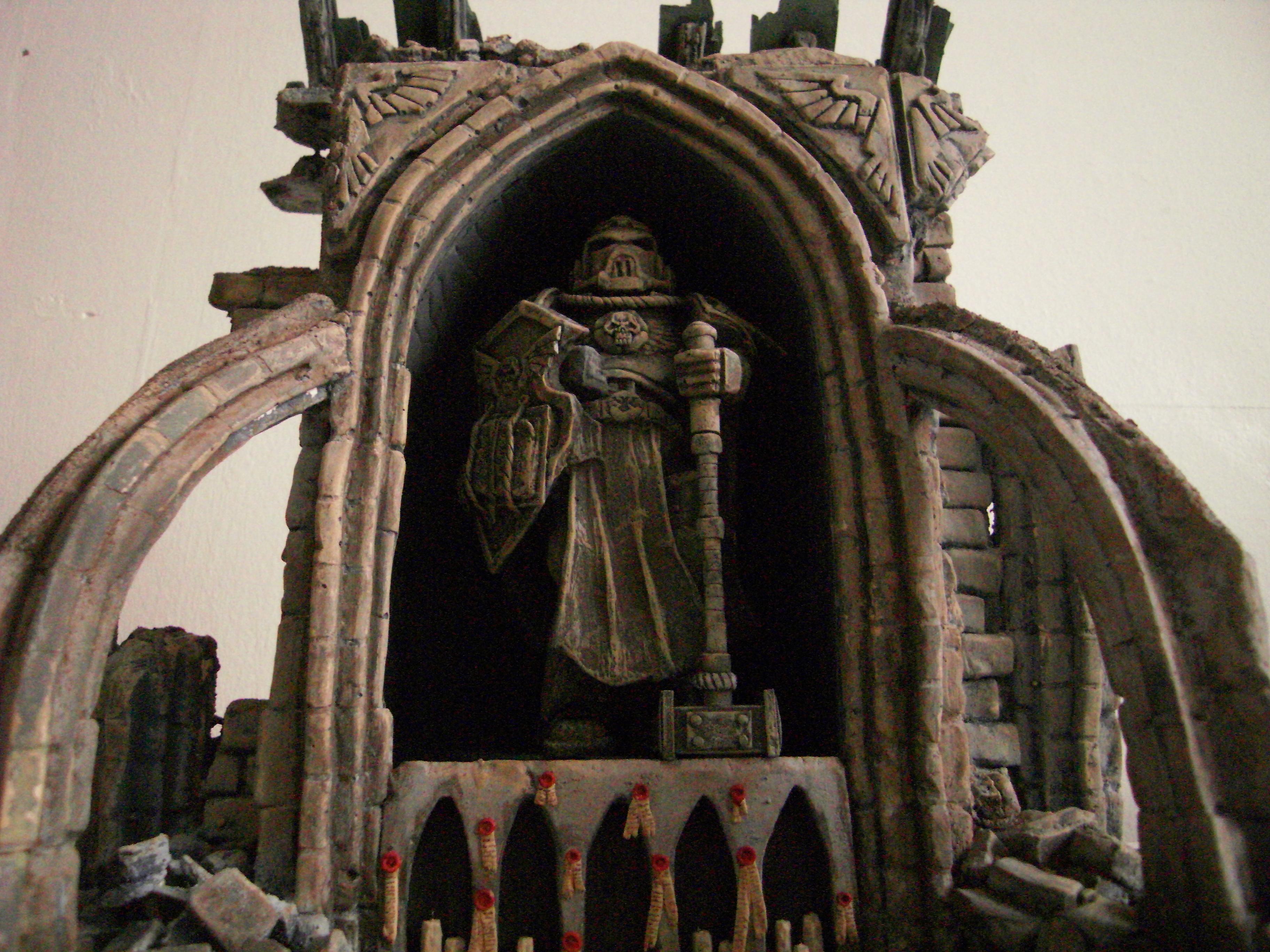 Cathedral, Ruin, Shrine, Space Marines, Statue, Terrain, Warhammer 40,000, Warhammer Fantasy