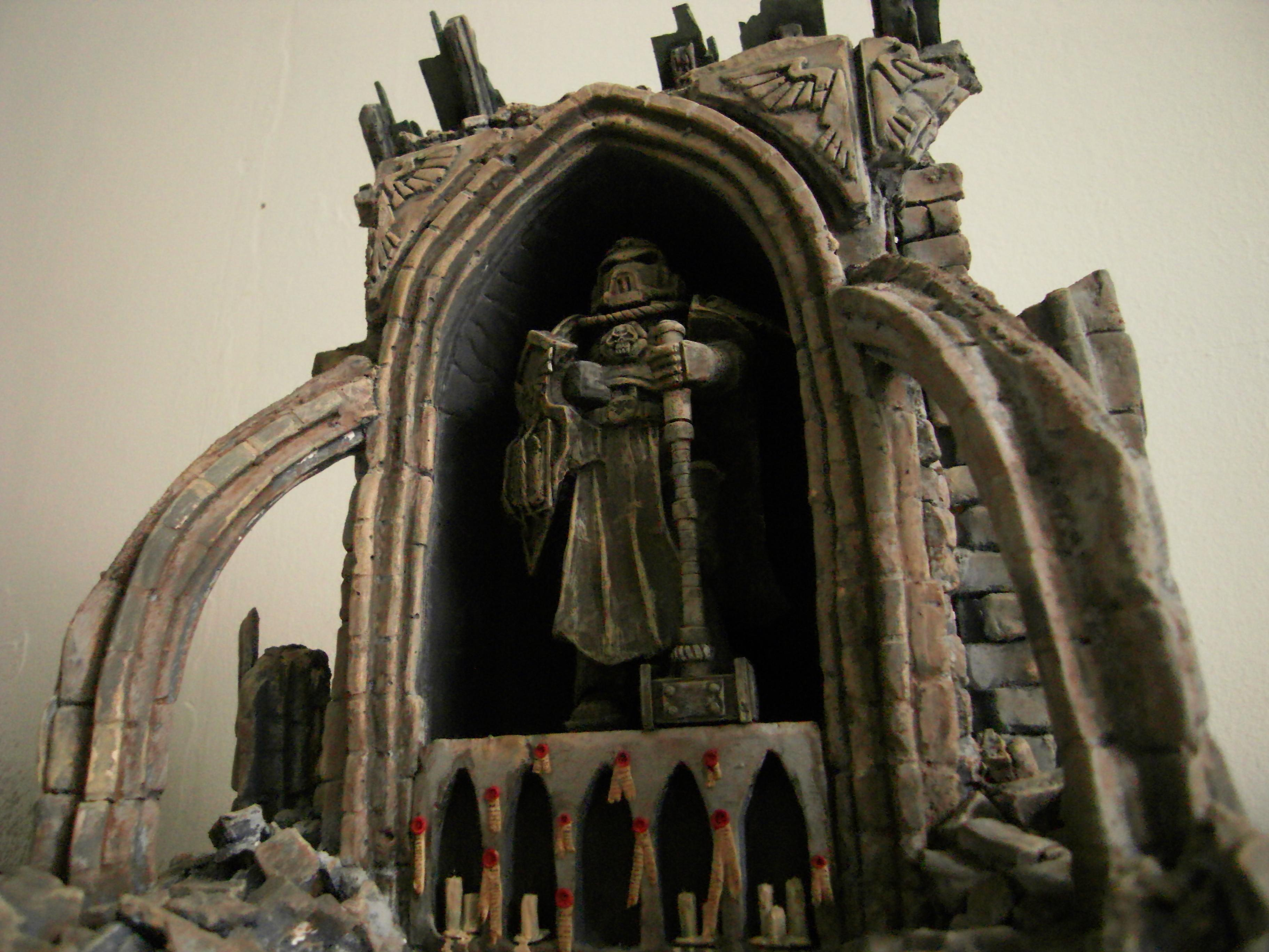Cathedral, Ruin, Shrine, Space Marines, Statue, Terrain, Warhammer 40,000, Warhammer Fantasy