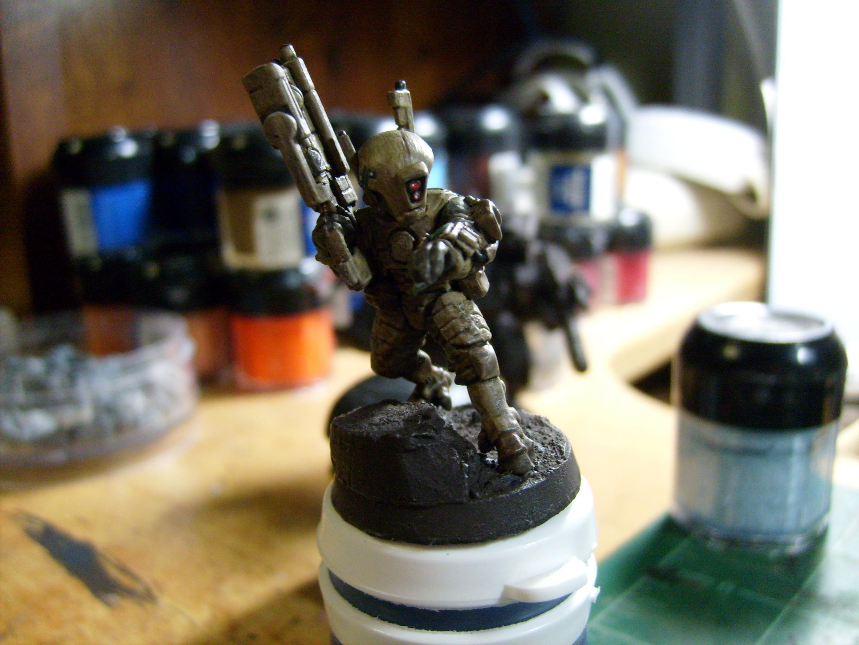 Army, Desert, Pathfinders, Tau, Warhammer 40,000, Work In Progress
