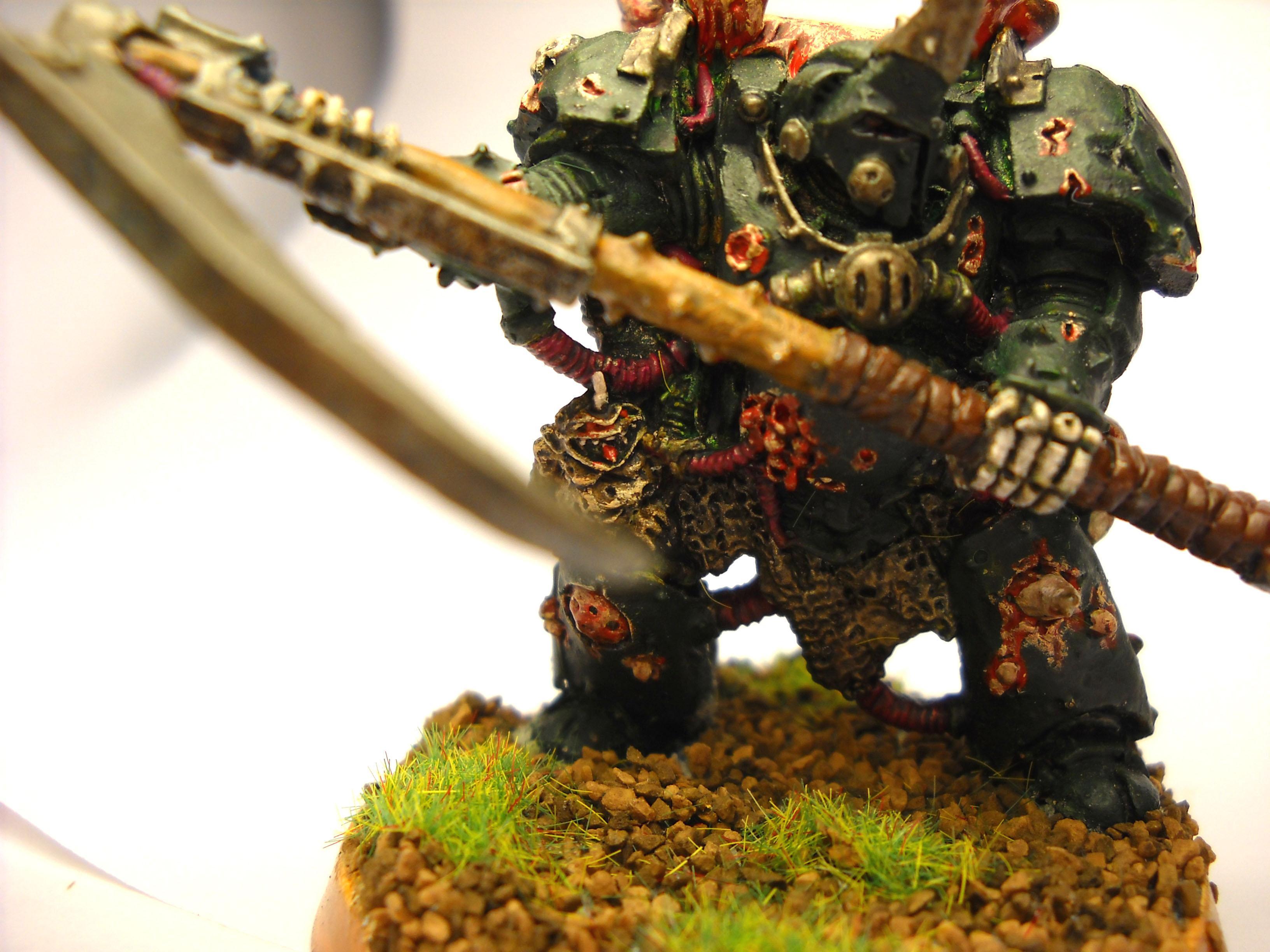 Chaos Space Marines, Nurgle, Terminator Lord, Typhus, Warhammer 40,000
