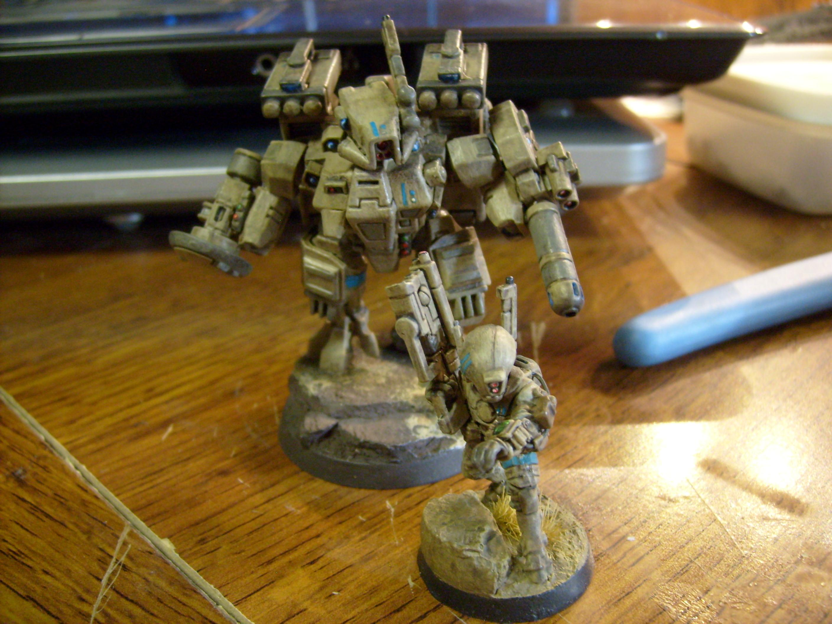 Base, Crisis Battlesuit, Desert, Mesa, Pathfinders, Resin, Secret Weapon, Tau, Warhammer 40,000, Xv-8