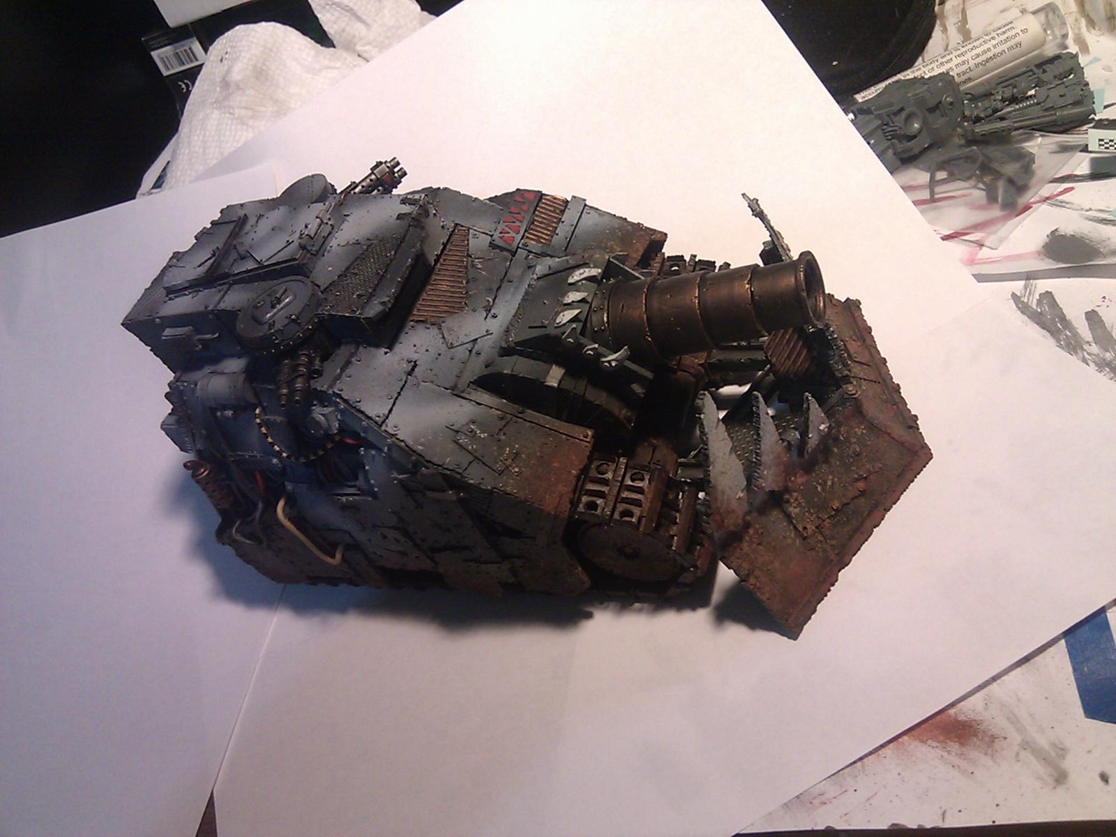 Airbrush, Forge World, Goffs, Kill Bursta, Kill Tank, Orks, Ouze, Salt Weathering, Warhammer 40,000, Work In Progress