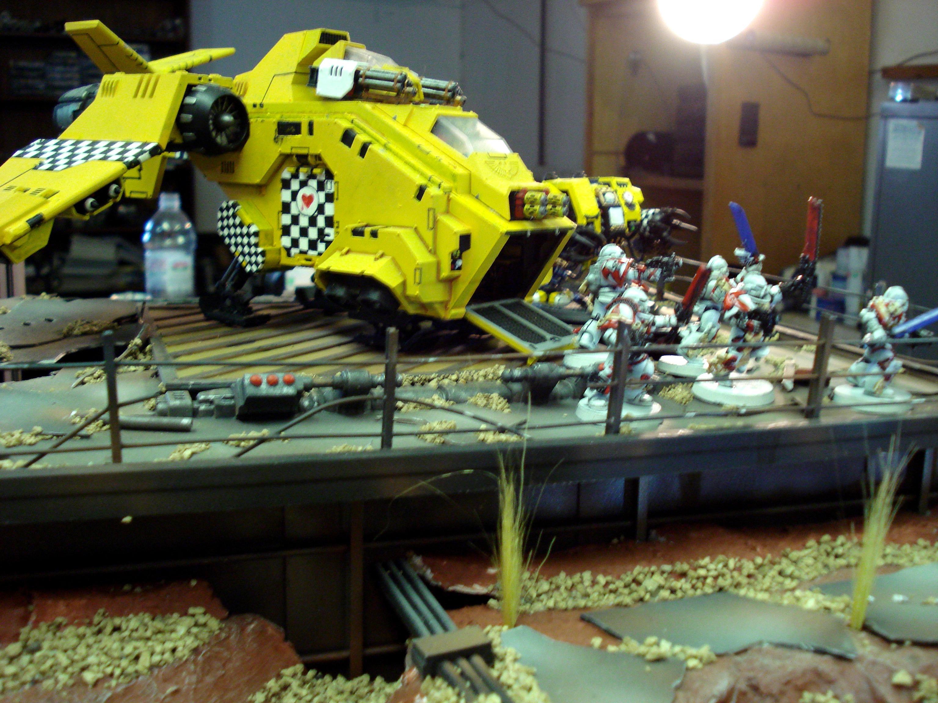 Lamenter, Space Marines, Storm Raven, Yellow