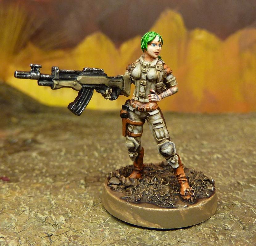 Corvus Belli, Ghulam, Girl, Haqqislam, Infinity, Rifle