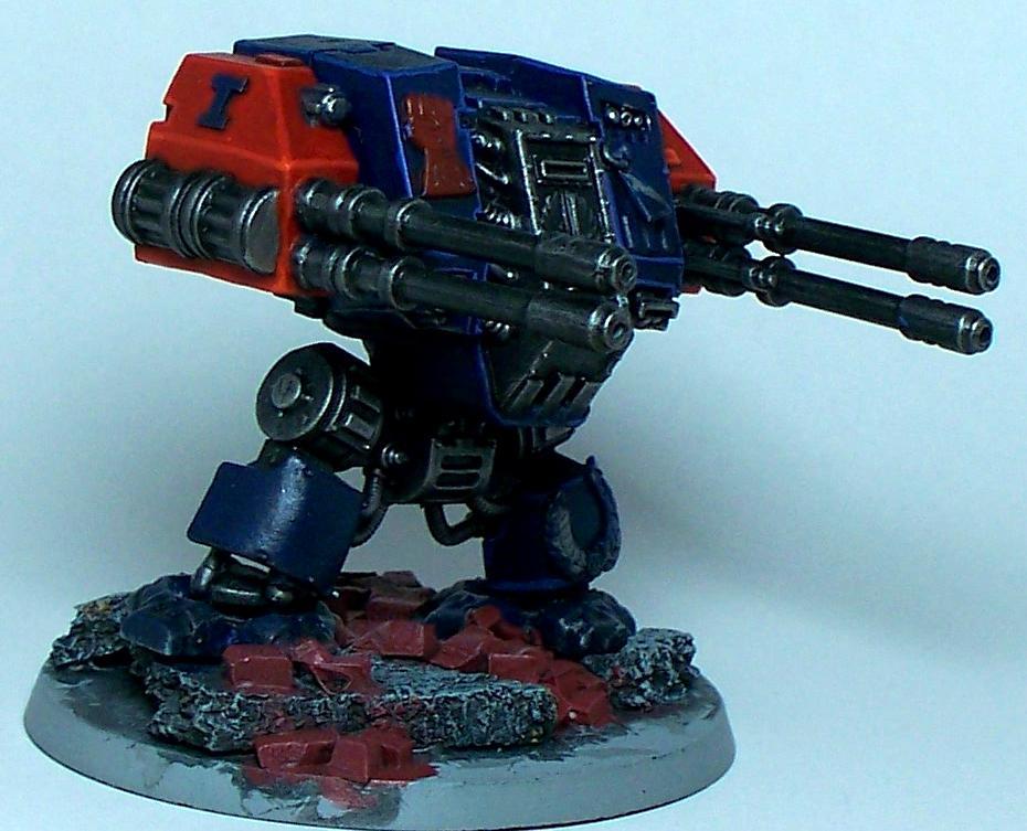 Crimson Fists, Dreadnought, Rifleman, Space Marines, Warhammer 40,000