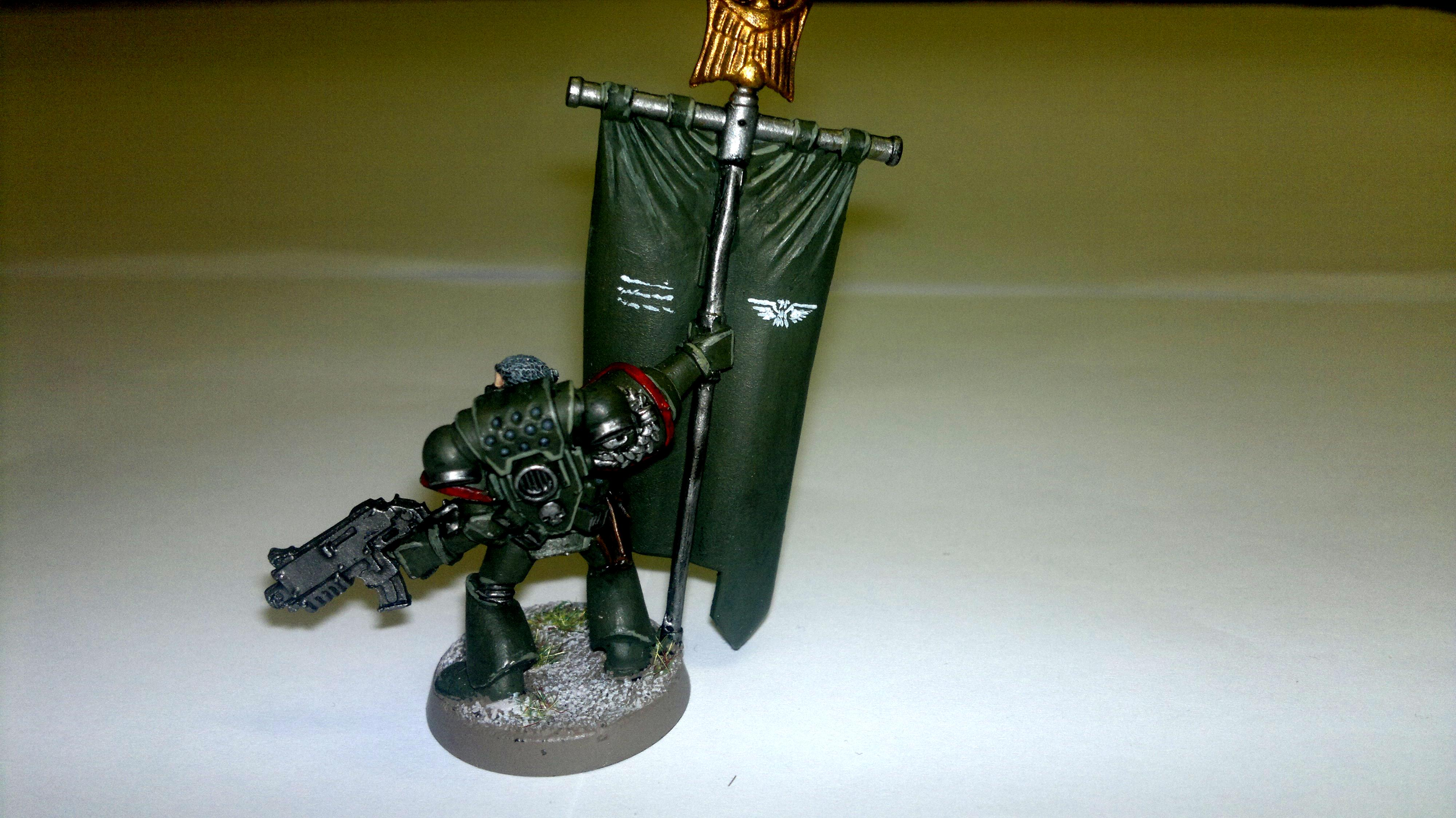 Banner, Broken Swords, Command Squa, Space Marines, Standard, Veteran, Warhammer 40,000