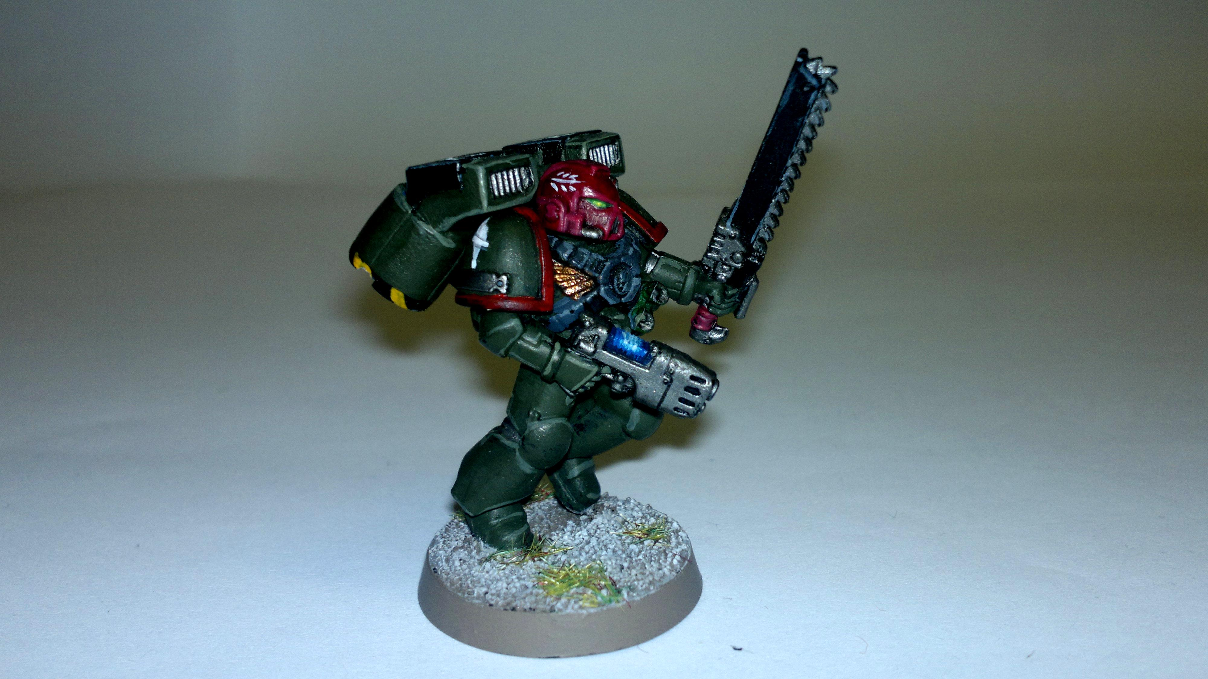 Assualt Squad, Imperial, Sergeant, Space Marines, Warhammer 40,000