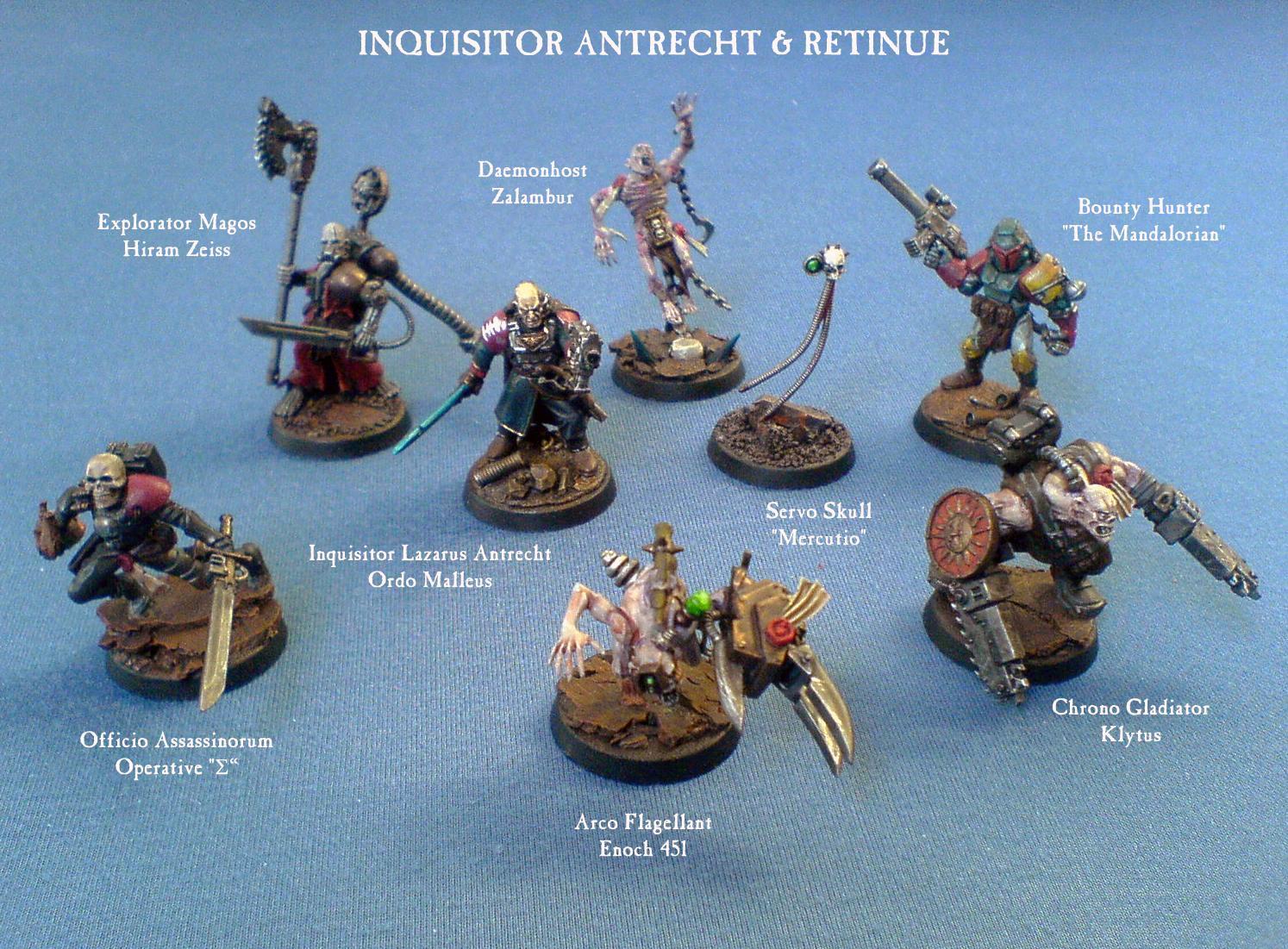 Antrecht, Inq28, Inquisitor, Ordo Malleus, Retinue, Warhammer 40,000