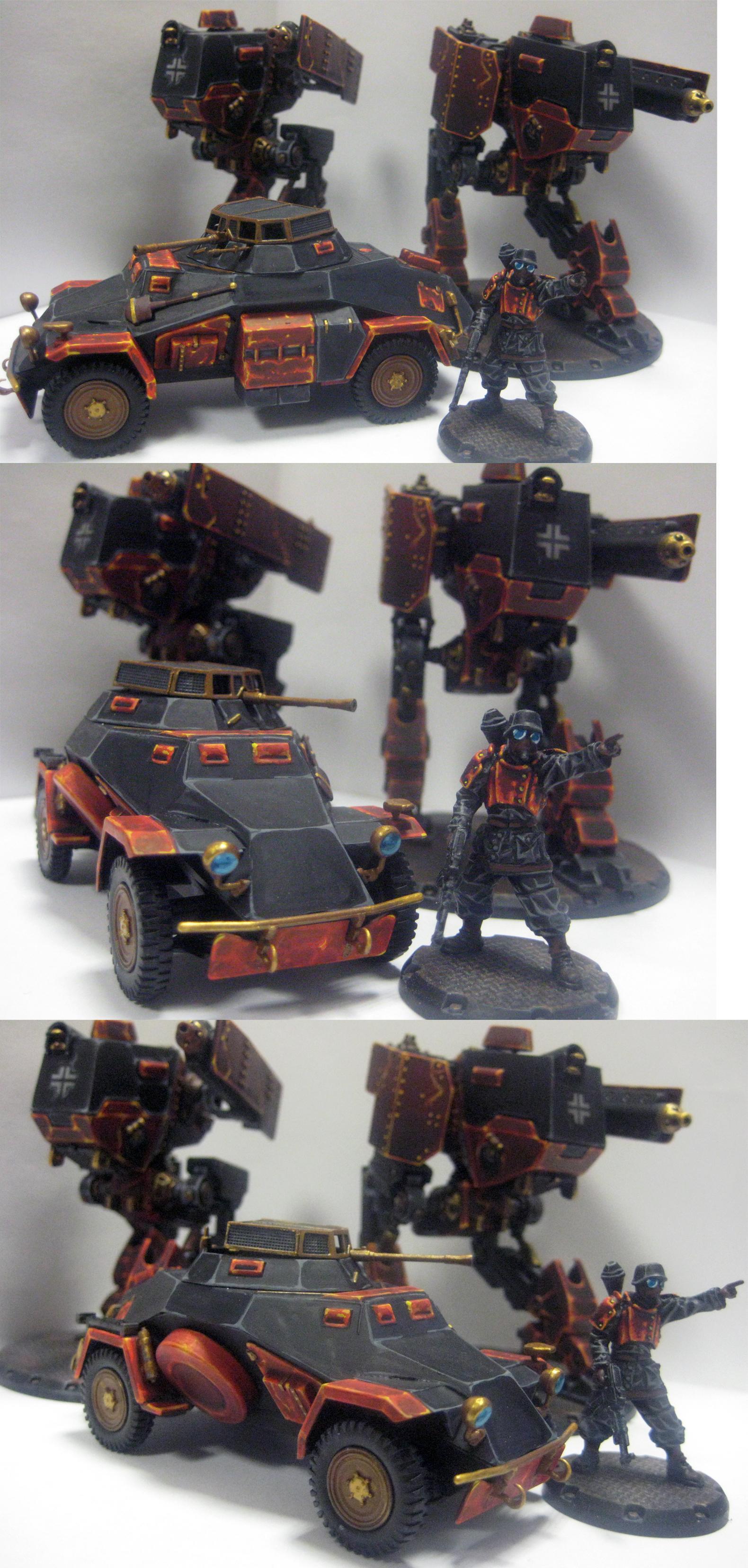 Armored Car, Dust, Nazi, Walker