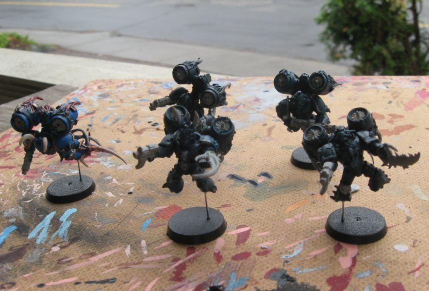 Chaos Space Marines, Conversion, Night Lords, Raptors, Work In Progress