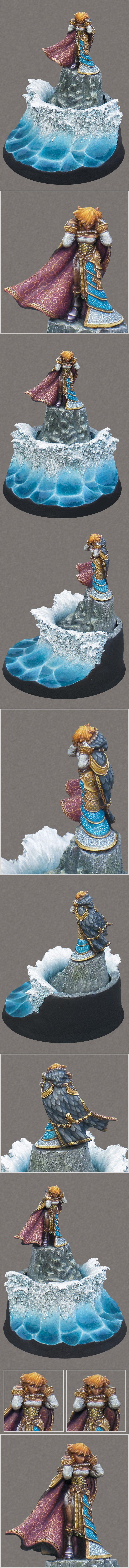 Ayana, Dress, Elves, Freehand, Girl, Hordes, Lady, Mercenary, Ornate, Privateer Press, Steampunk, Storm, Tidal, Warmachine, Water, Wave