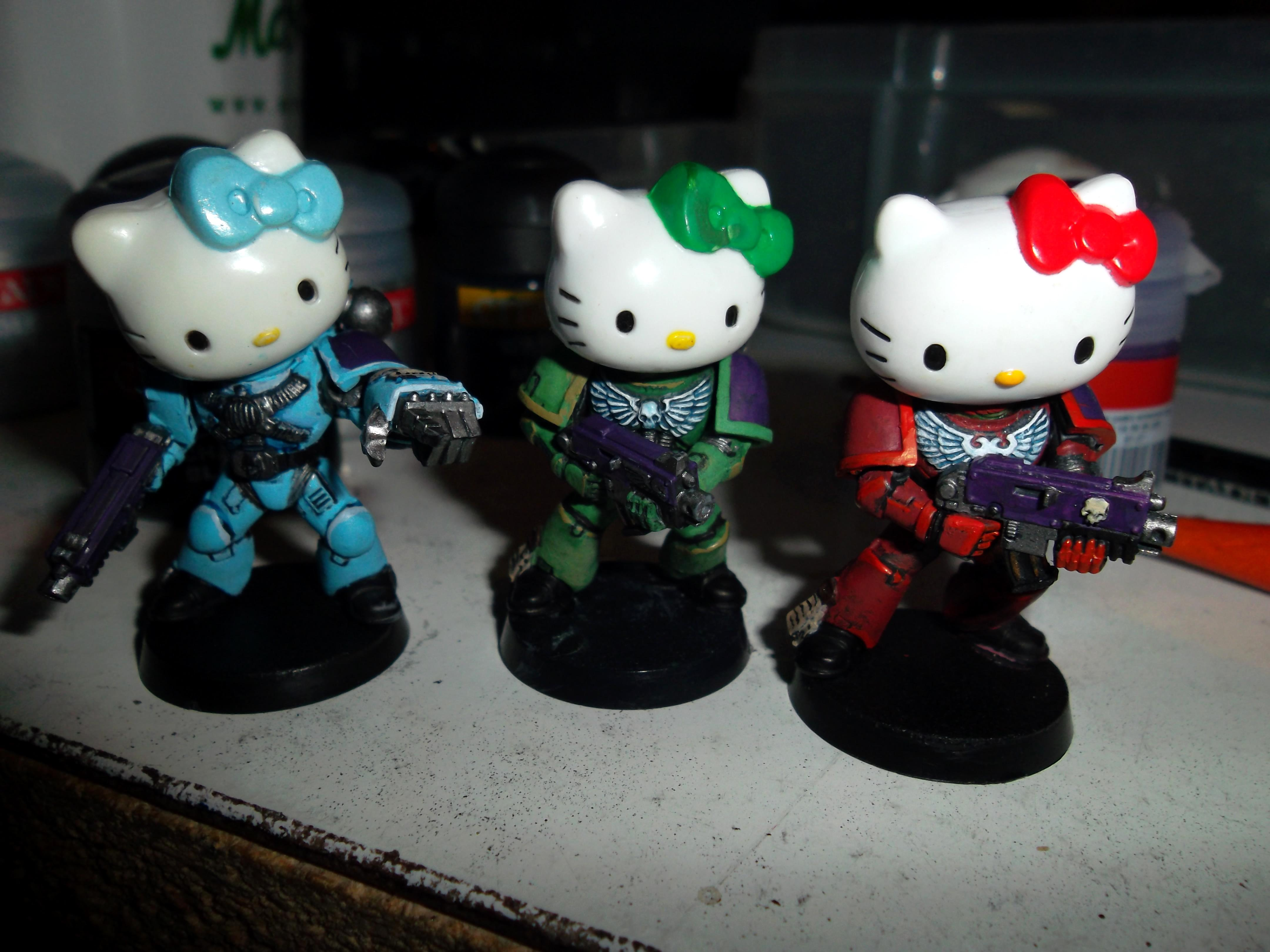 Cute, Hello Kitty, Humor, Space Marines