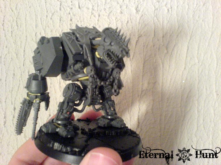 Chaos, Conversion, Dreadnought, Khorne, Work In Progress, World Eaters