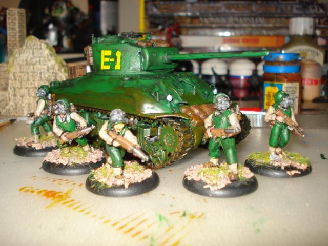 Gas Mask, Militia, Postapoc, Squad, Tank
