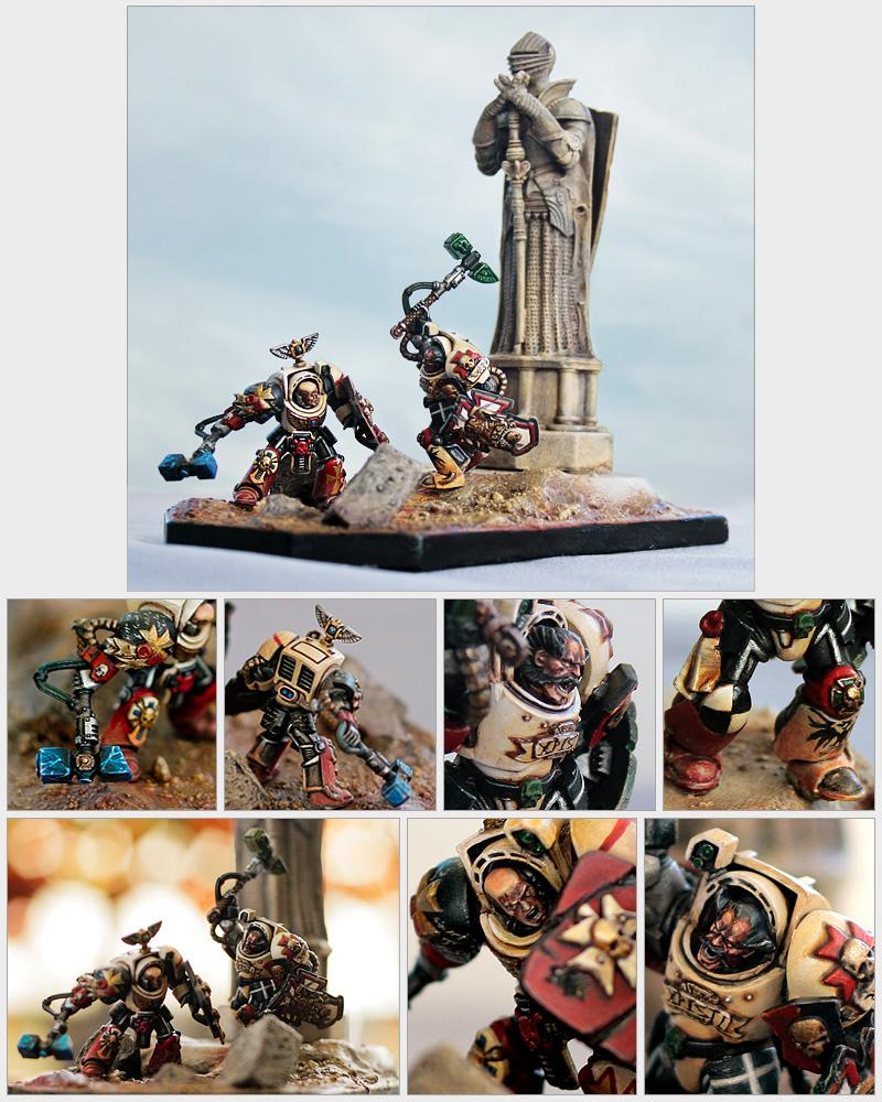 Dakka Painting Challenge, Duel, Storm Shield, Terminator Armor, Thunderhammer, Warhammer 40,000, Welcome To Thunderdome